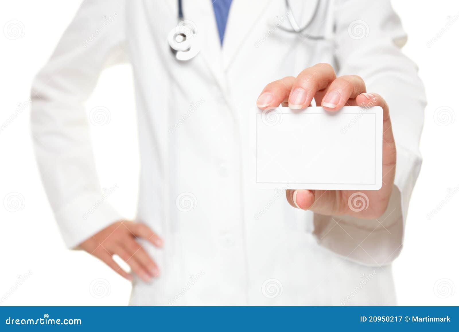 Wizytówka znak doktorski medyczny