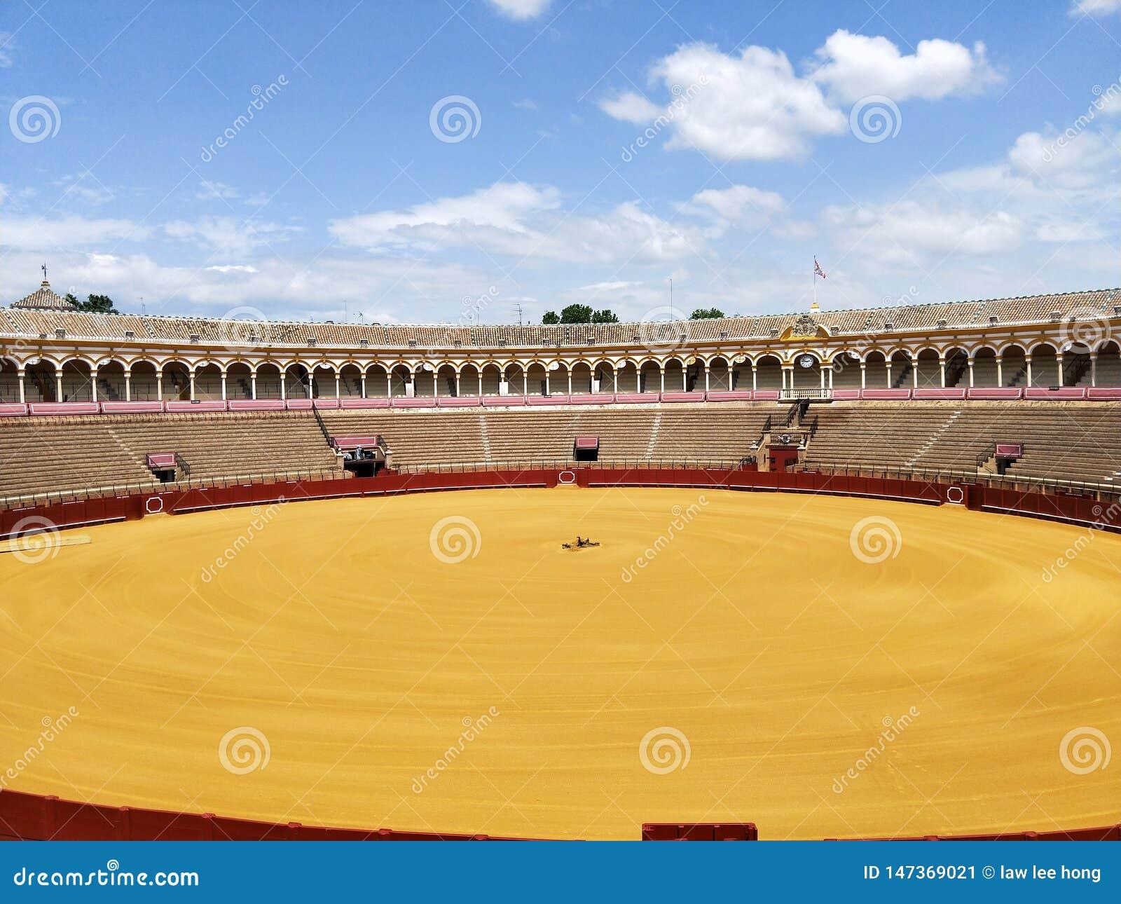 Wizyta Plac De Toros przy Seville Hiszpania