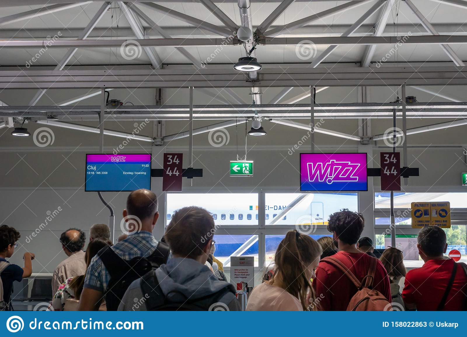 Wizz Air Check In Counter In Berlin Schonefeld Airport Editorial Stock Photo Image Of Festival Pilot 158022863