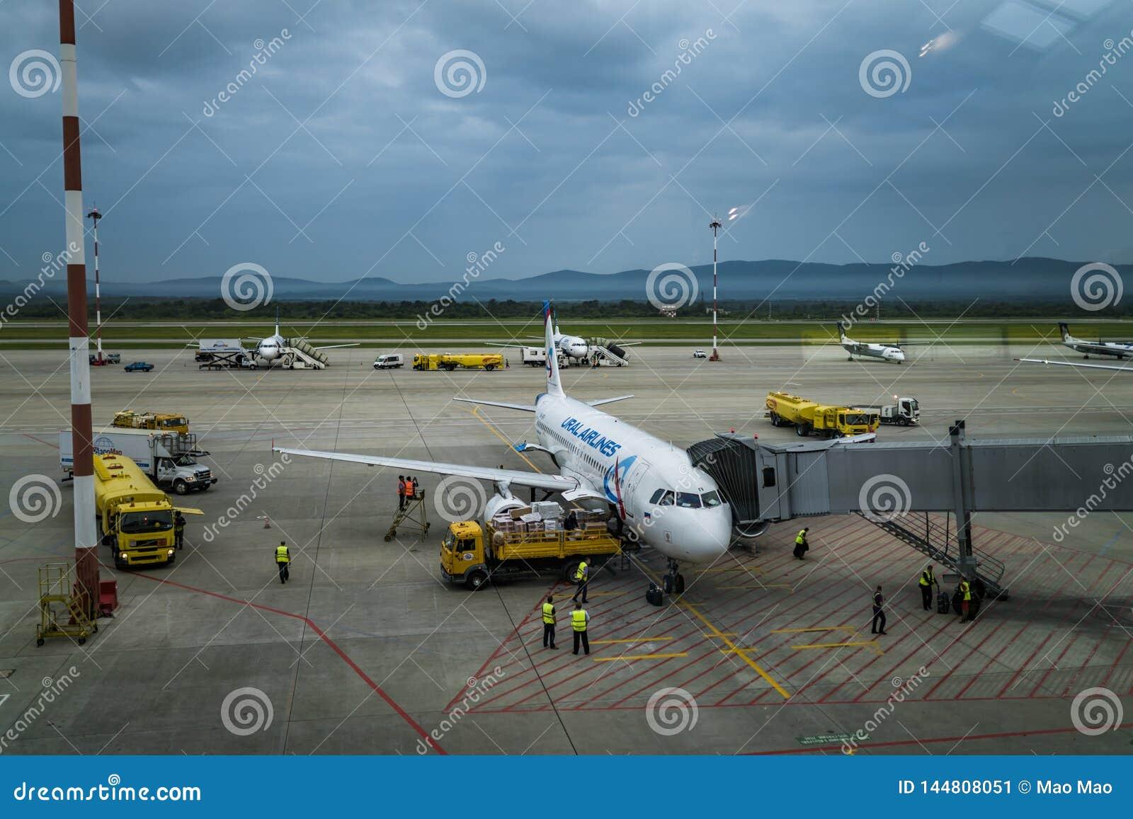 Wladiwostok, Russland, Agu 17 2017 - Flughafen von Wladiwostok