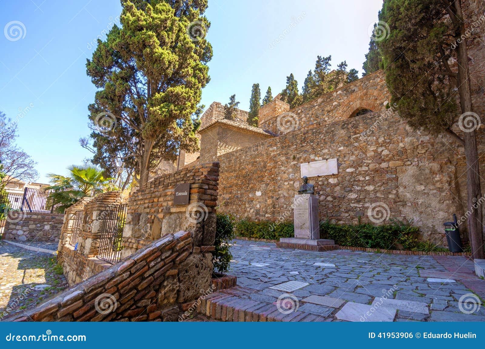 Wnętrze Alcazaba Malaga, Hiszpania