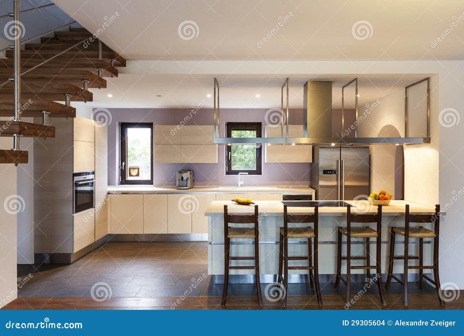 Wnętrze Dom, Kuchnia Obrazy Stock  Obraz 29305604