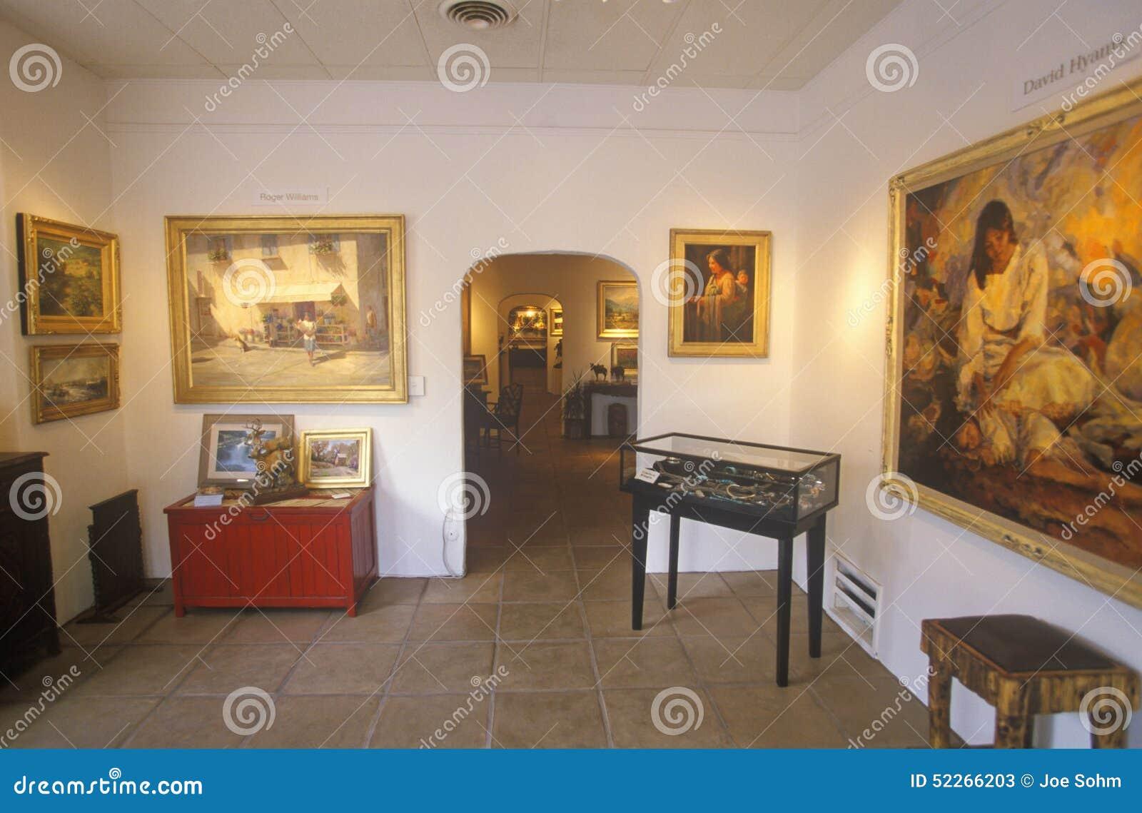 Wnętrze galeria sztuki w Santa Fe, NM