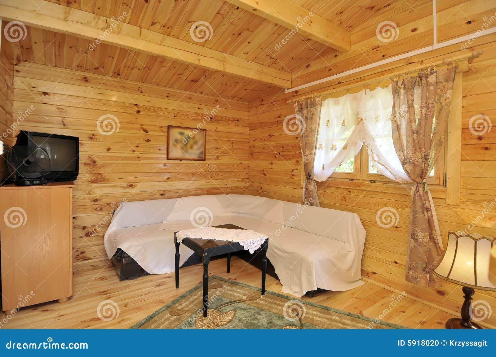 Wnętrze kasetonowy drewna domowego