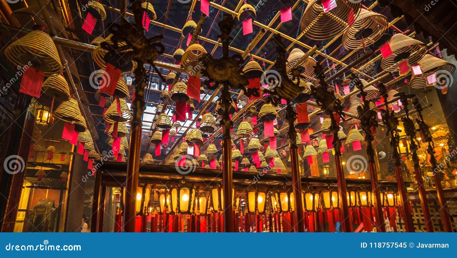 Wnętrze mężczyzna Mo świątynia w Hong Kong