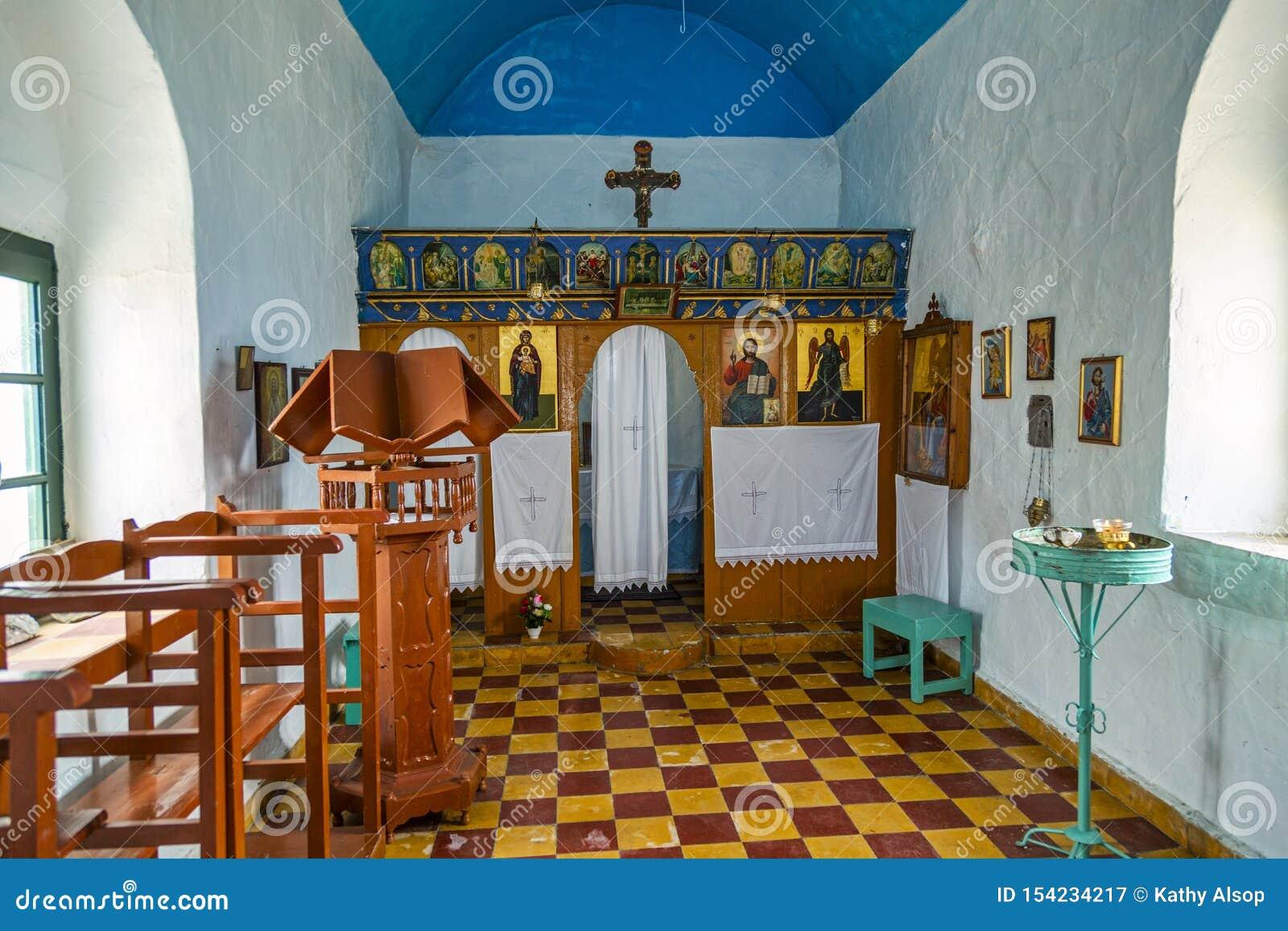 Wnętrze mały Greckokatolicki kościół