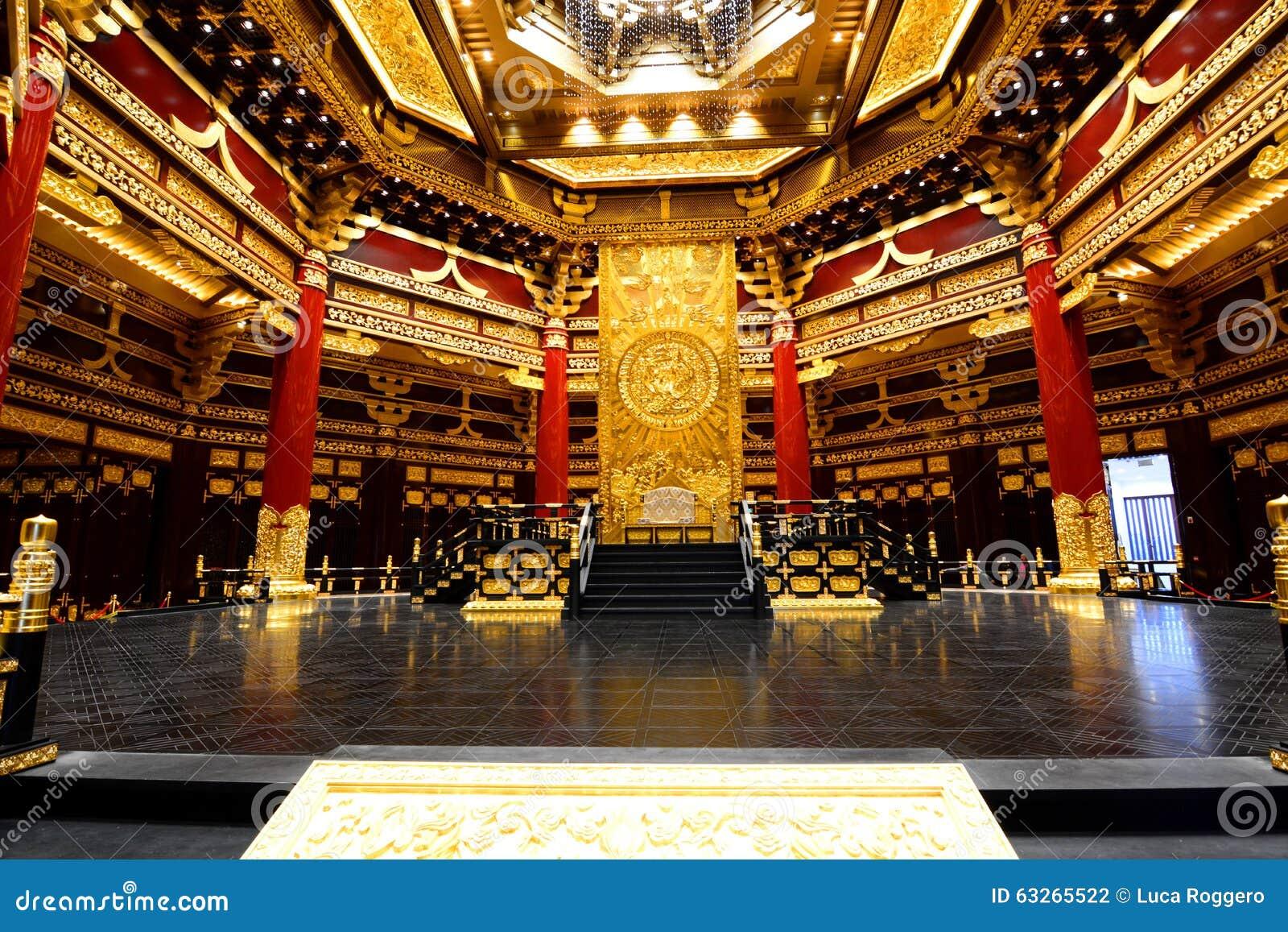 Wnętrze Ming świątynia Luoyang, Henan prowincja Chiny