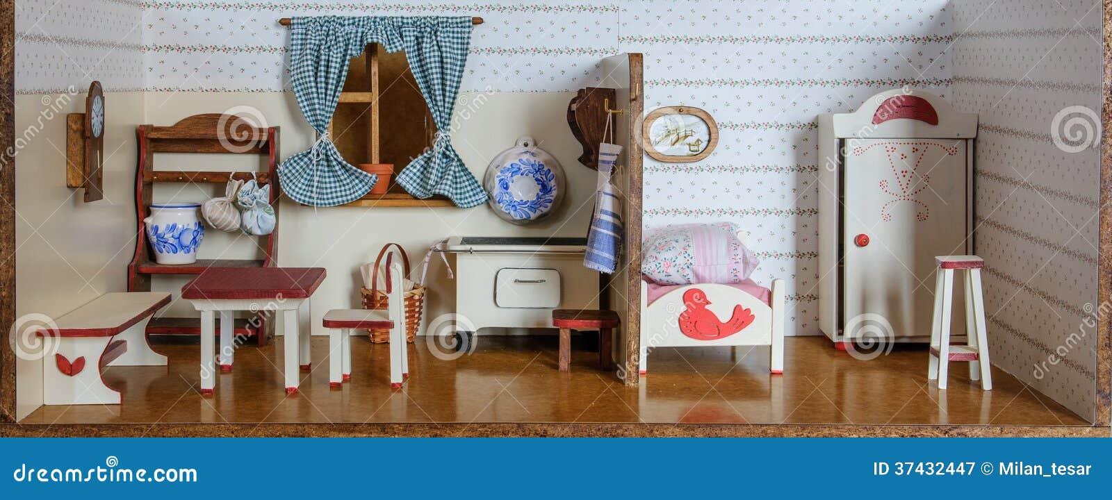 Wnętrze rocznik lali dom