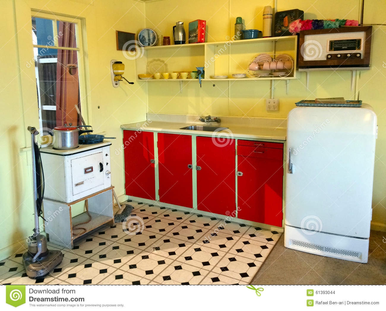 Wnętrze Stara Wsadu Wakacje Domu Kuchnia W Nowa Zelandia