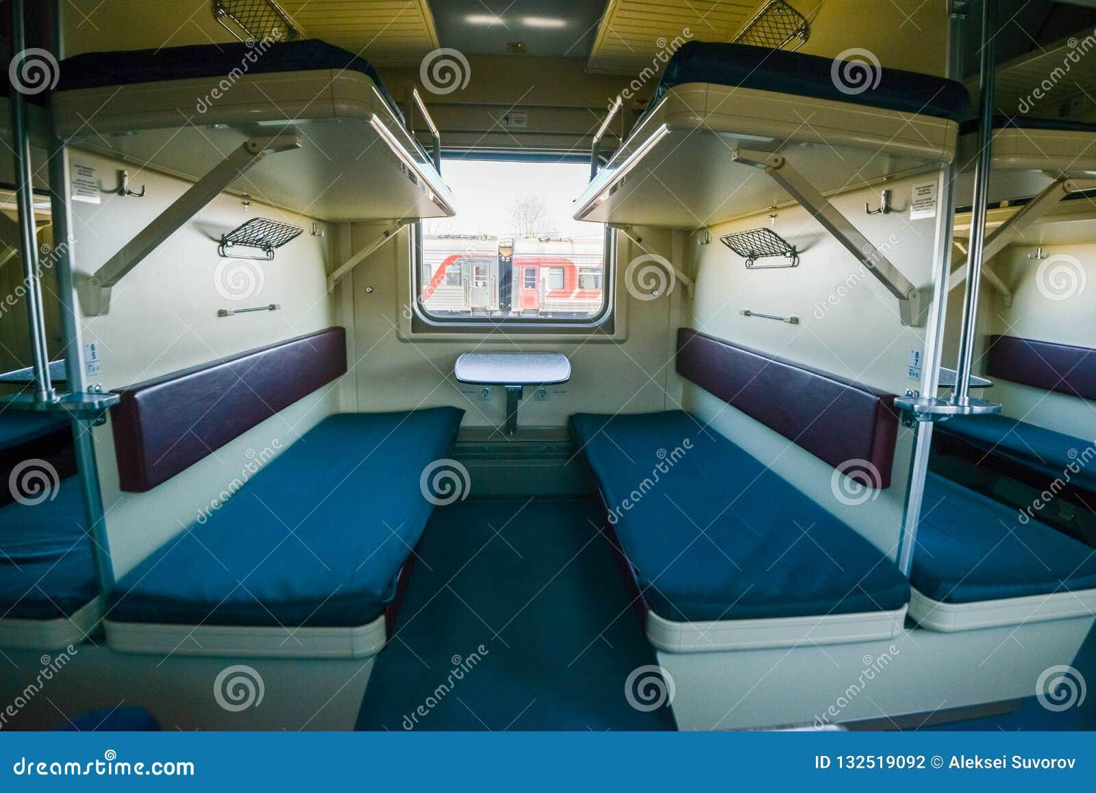 Wnętrze syberyjski pociąg ekspresowy, łączy Moskwa z Rosyjskim Daleki Wschód, kończy w Vladivostok