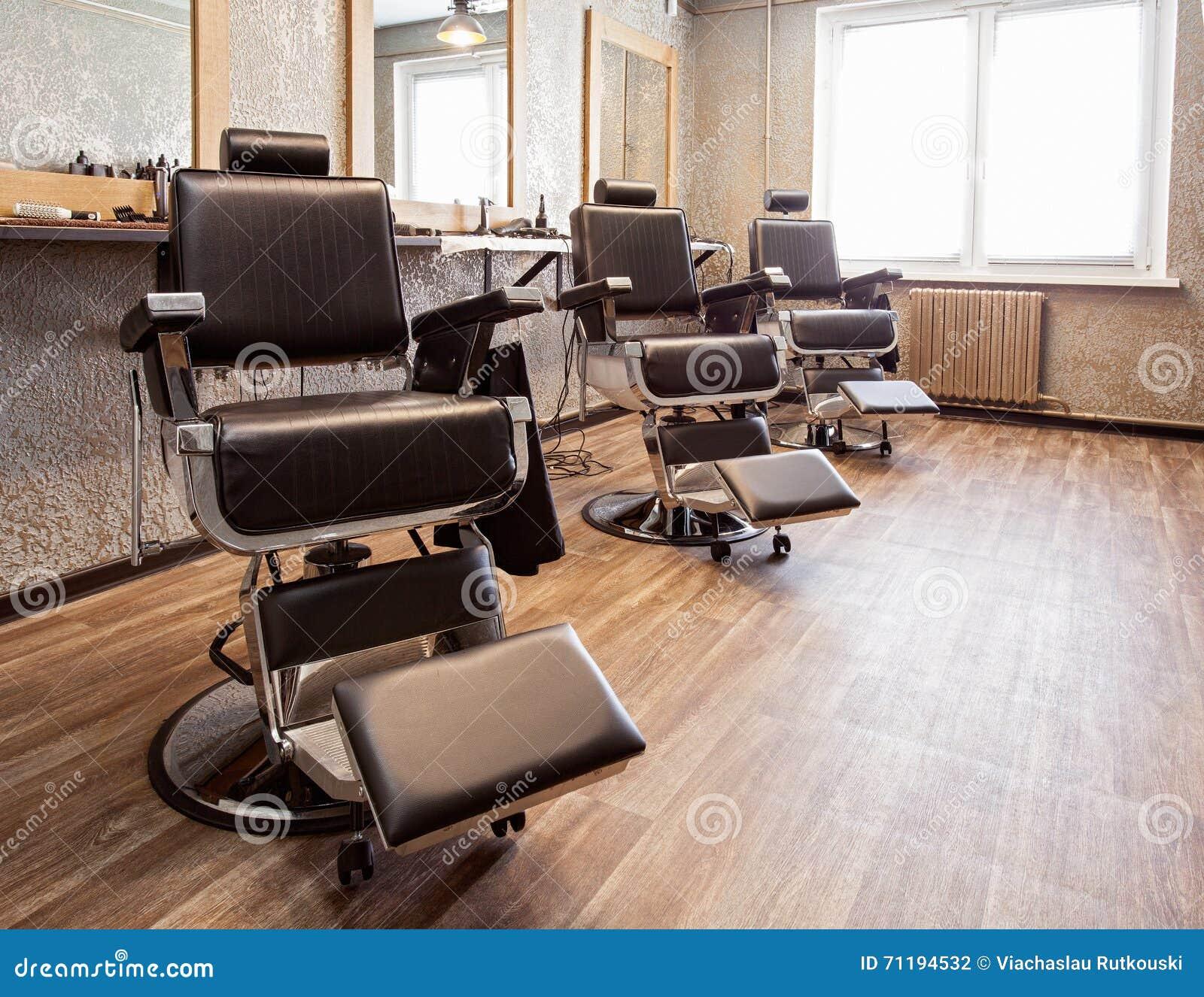 Wnętrze zakład fryzjerski