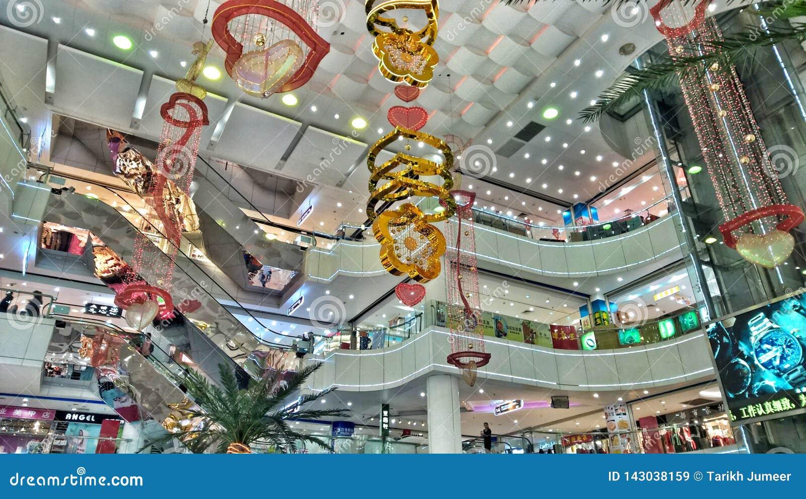 Wnętrze zakupy centrum handlowe w Chiny
