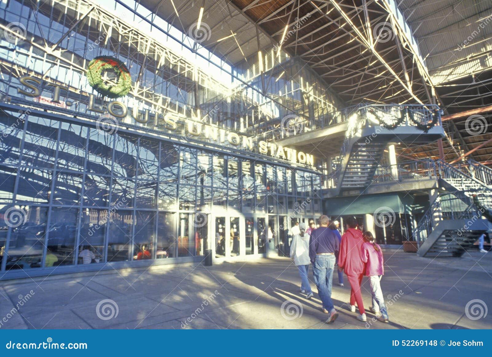 Wnętrze zjednoczenie staci centrum handlowe, St Louis, MO