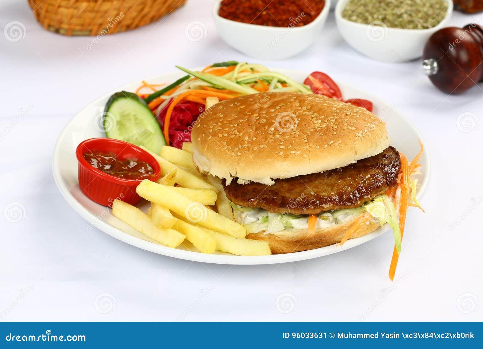 Wołowina Domowej roboty hamburger