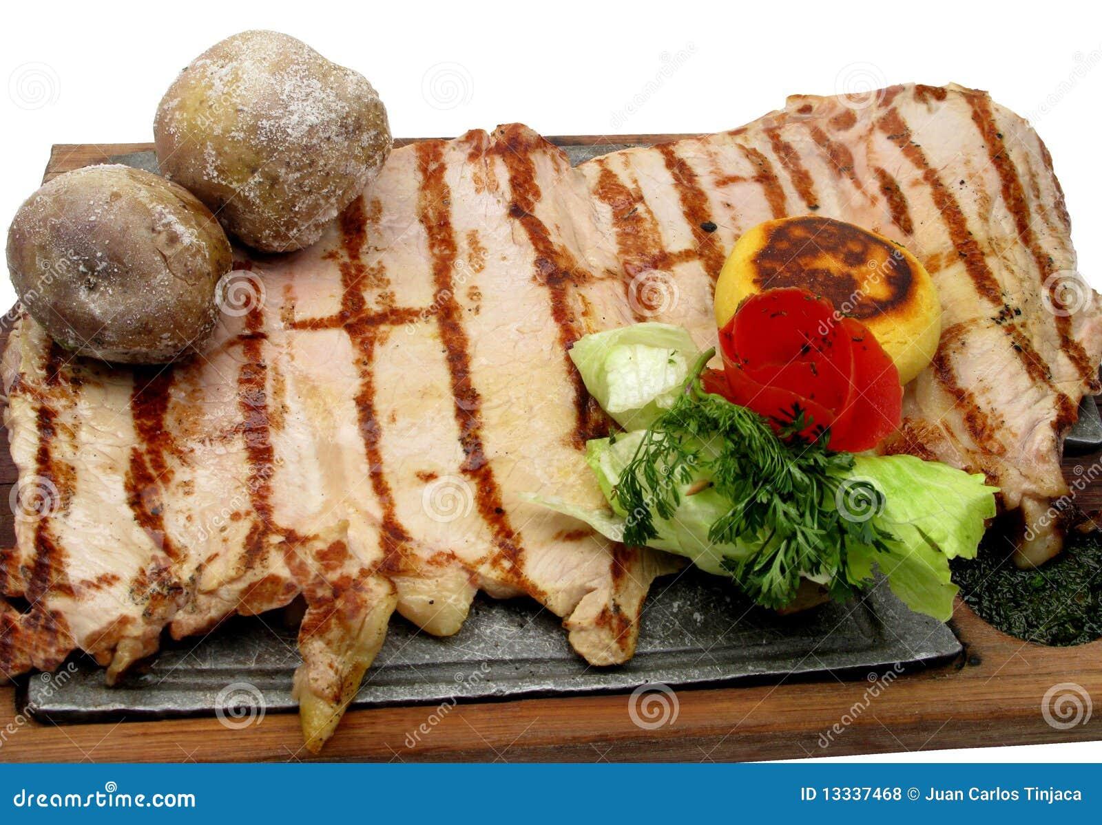 Wołowiny mięso piec słuzyć stek