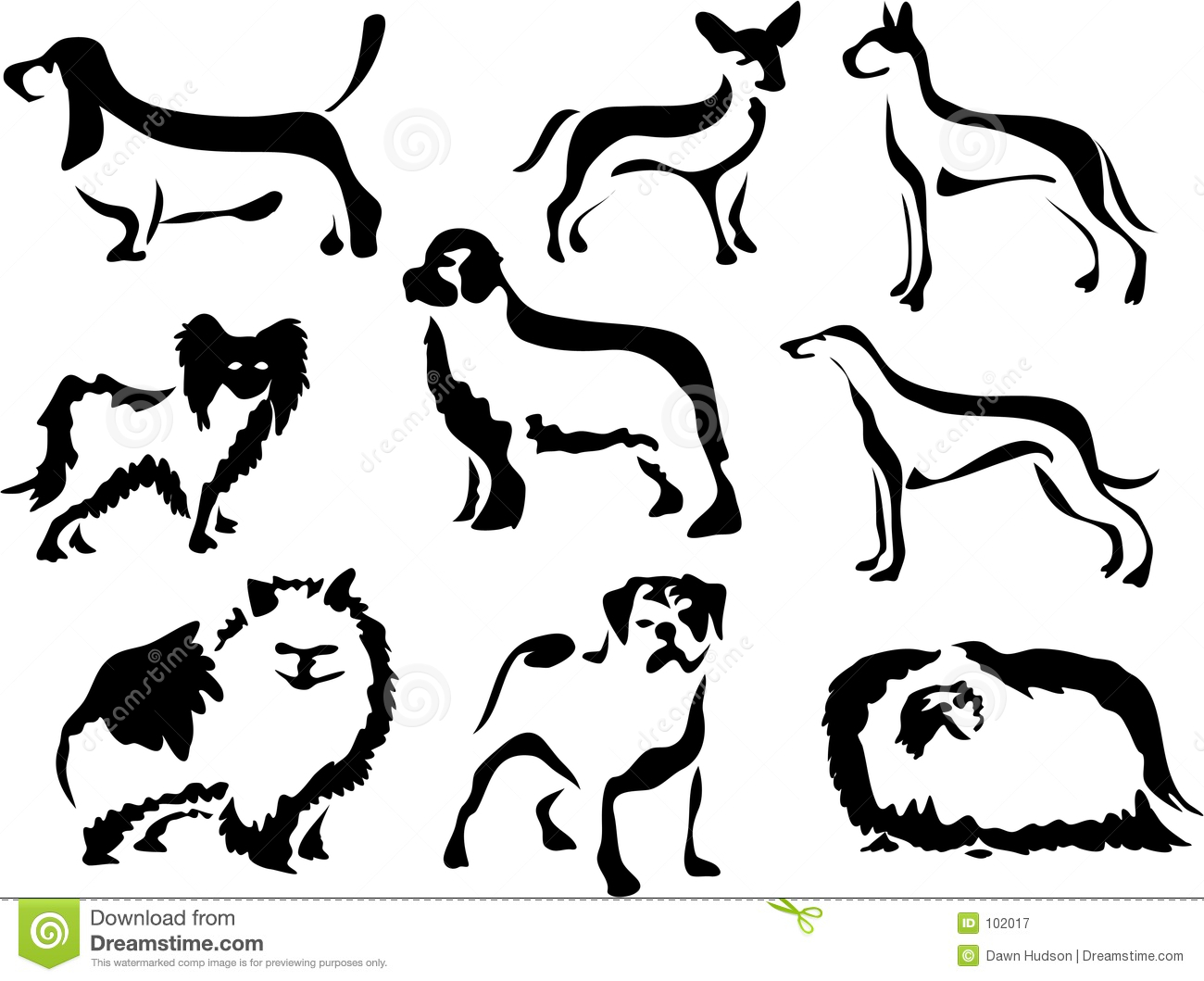 Free Black And White Clipart Of Dog