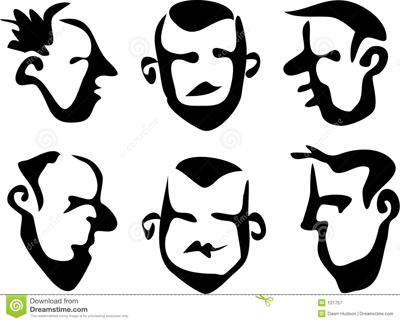 Download Wobbly Brush Faces stock illustration. Illustration of faces - 101757