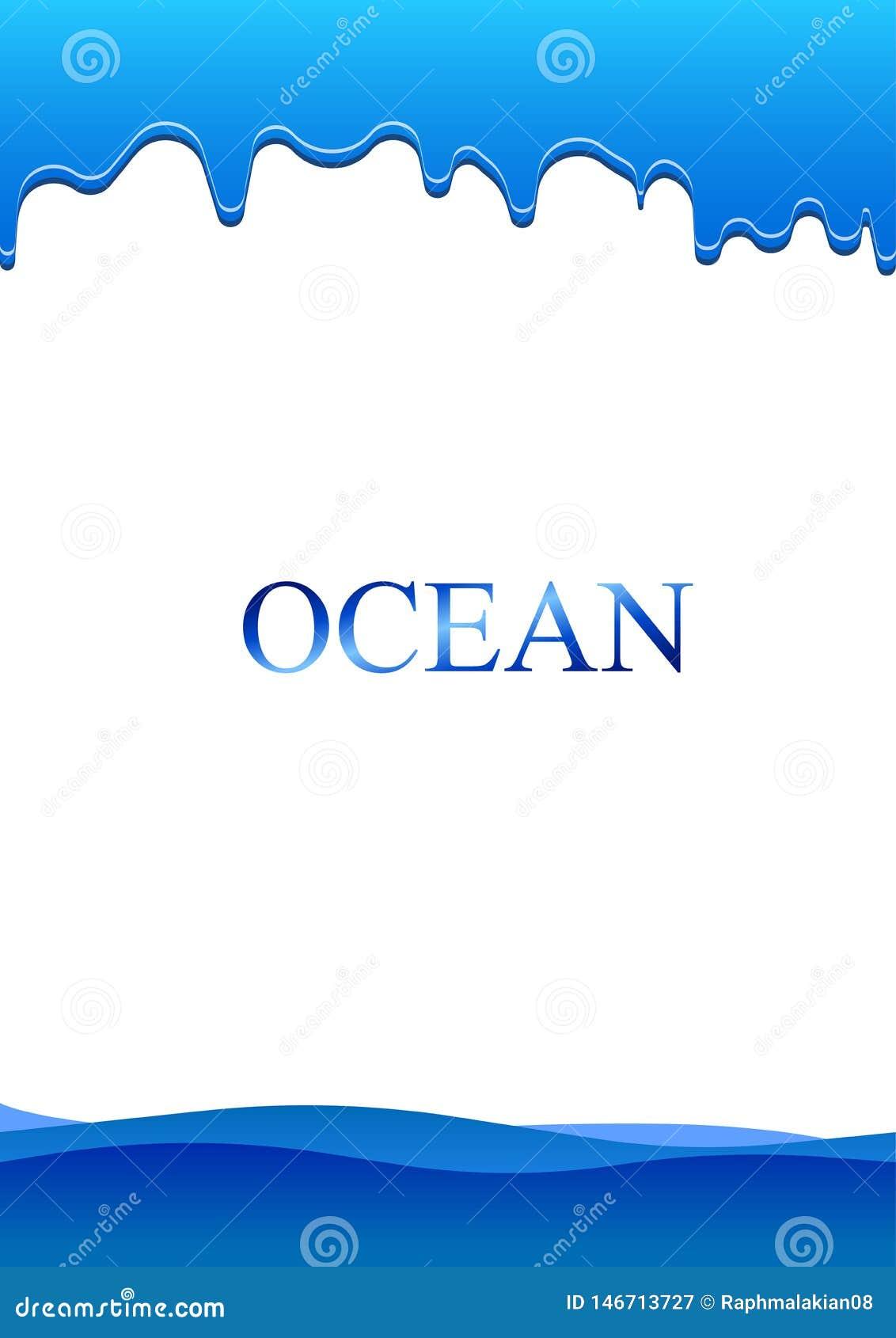 Wod Morskich kropelki na papierze