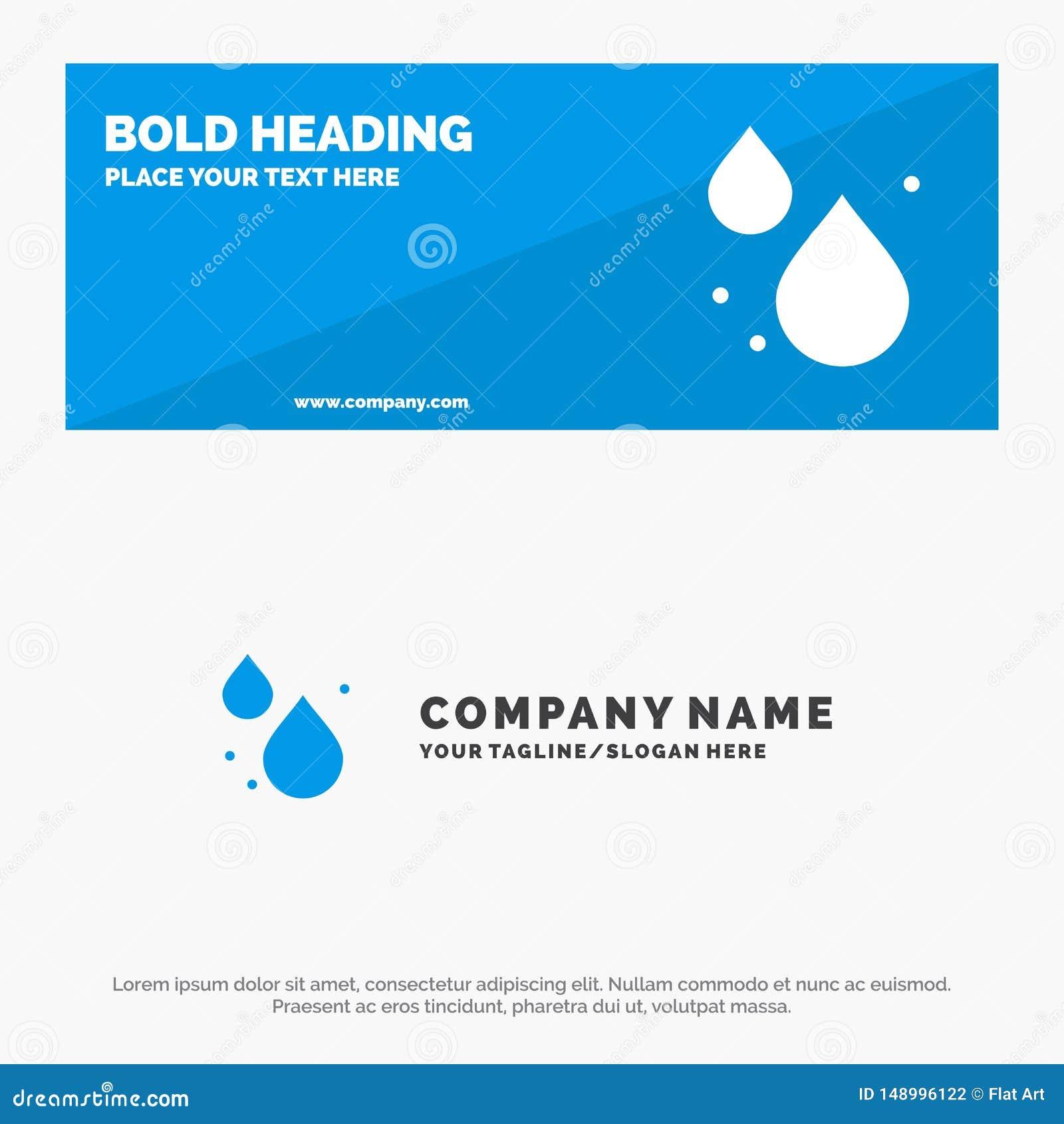 Woda, kropla, wiosny ikony strony internetowej stały sztandar i biznesu logo szablon,