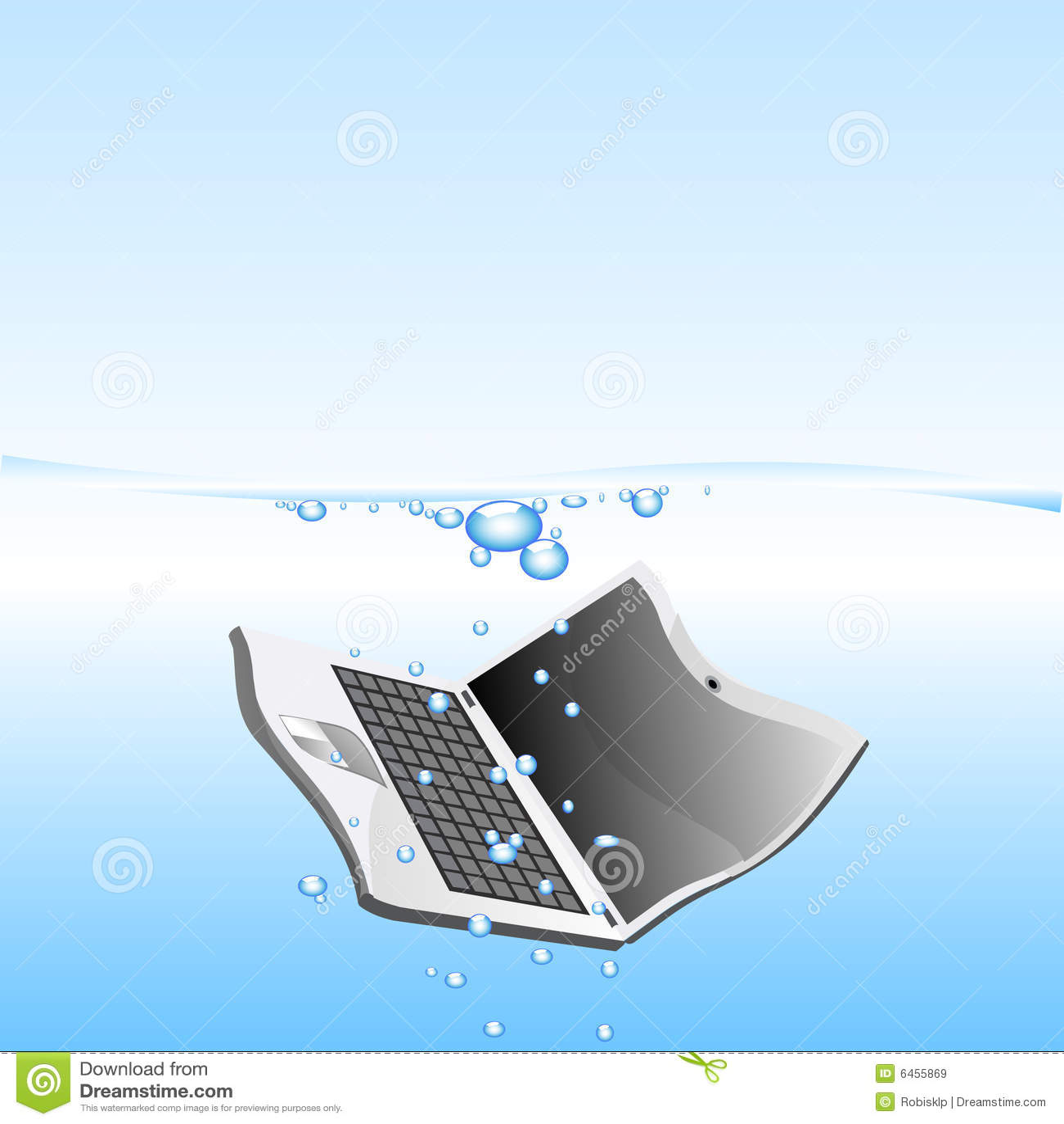 Woda spadła laptop
