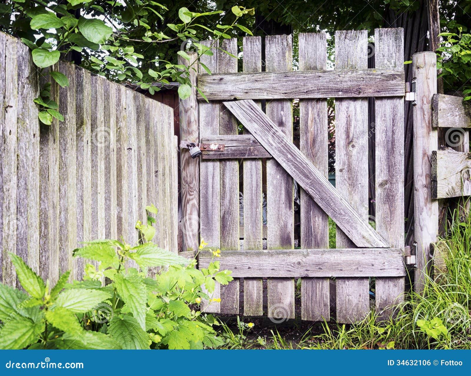 Woden gate royalty free stock image