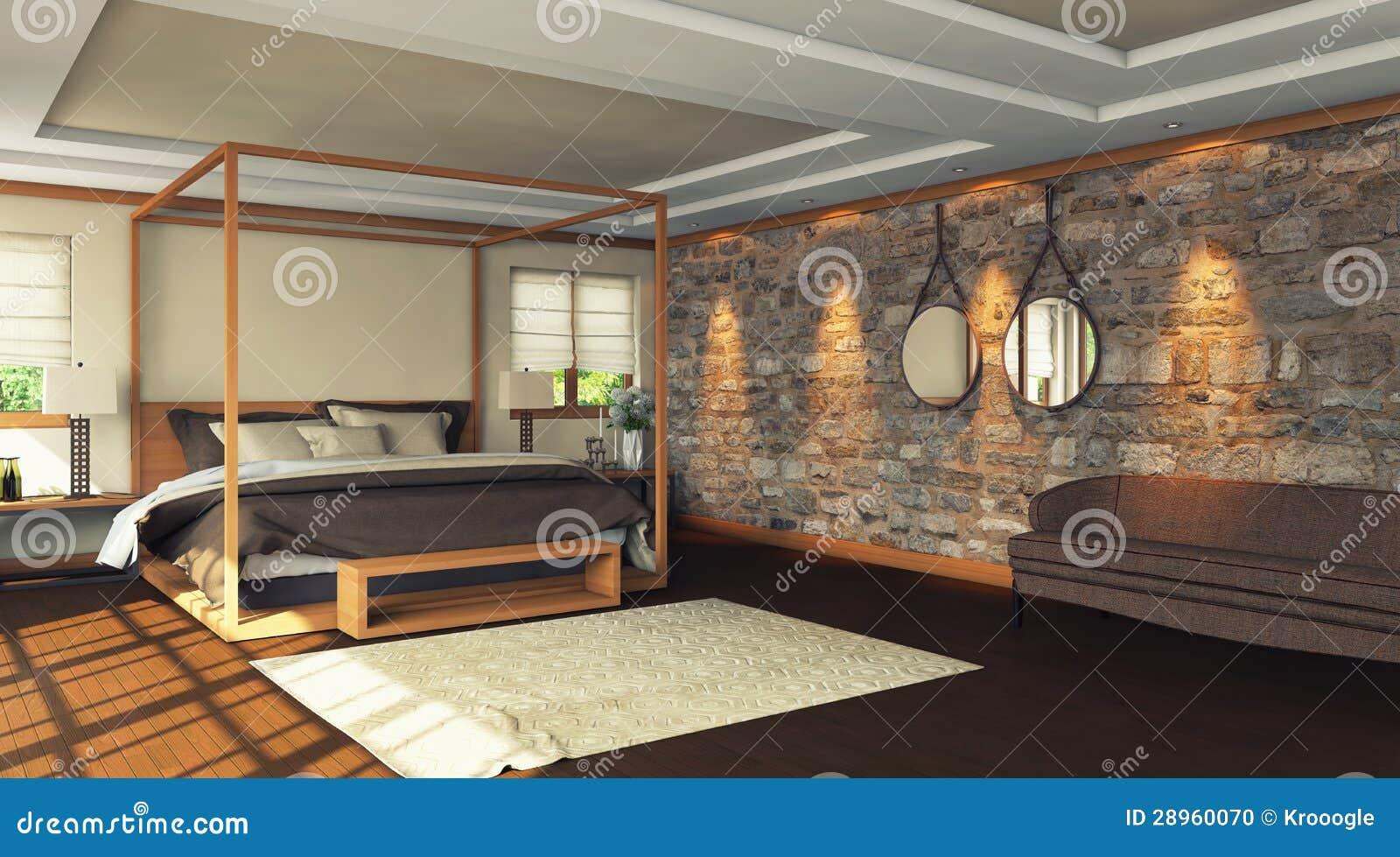 Woden sypialnia
