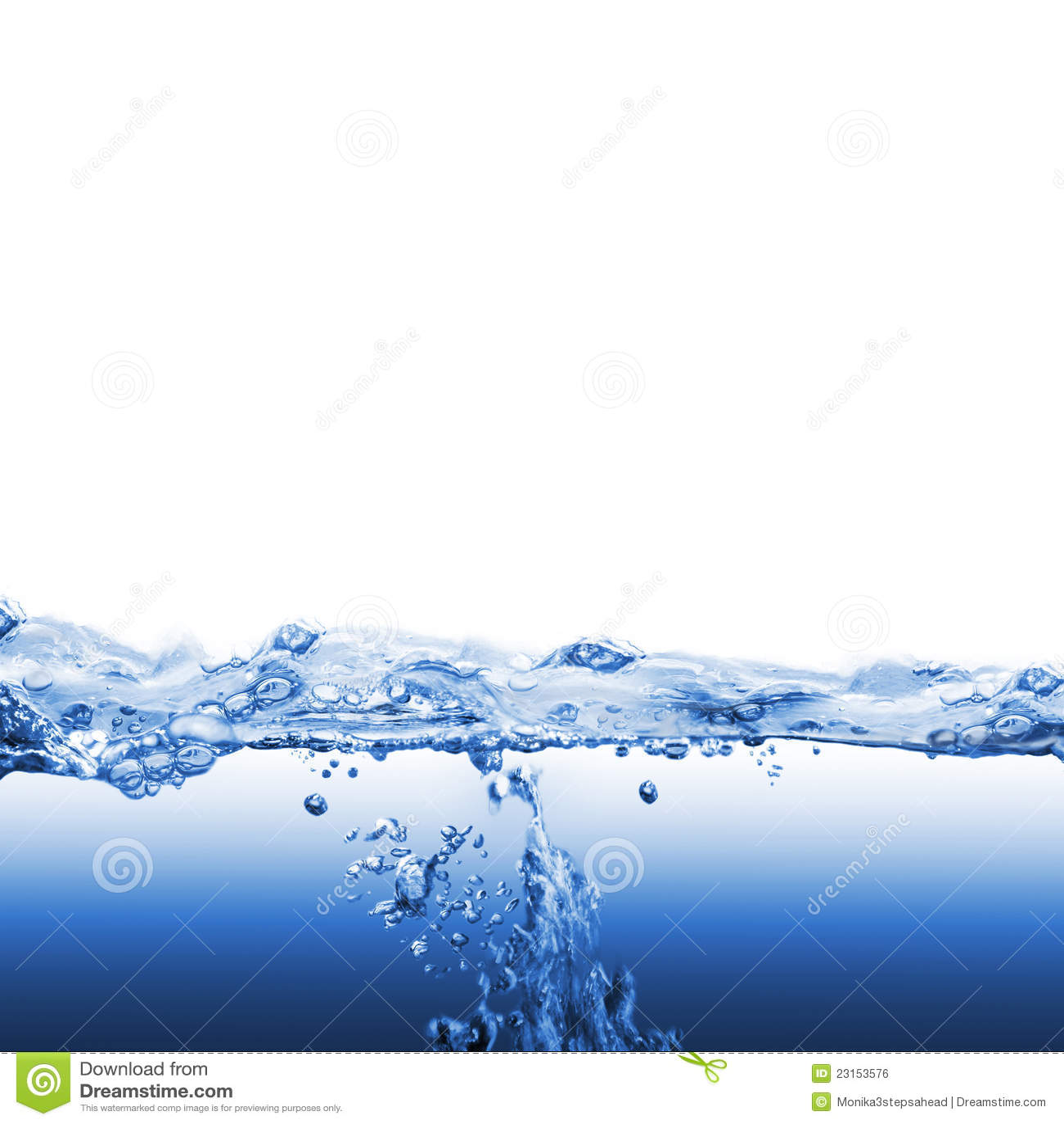 Wodna fala i bąble
