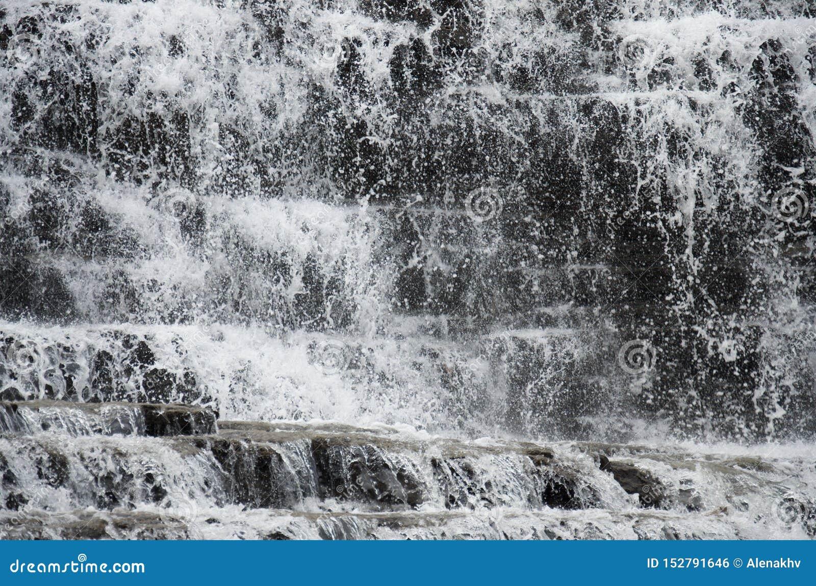 Wodna tekstura lasowe siklaw kaskady