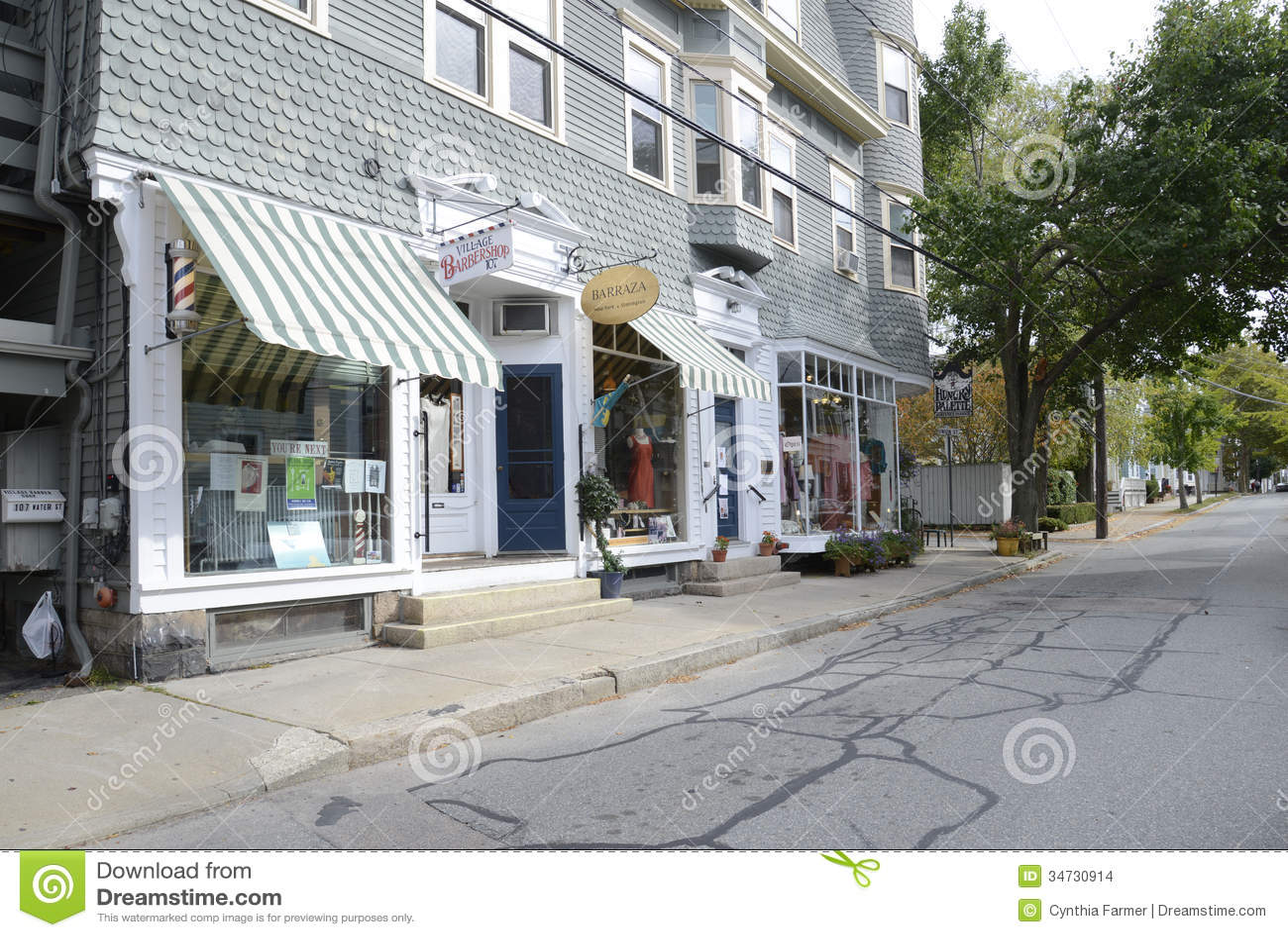 Wodna ulica w Stonington Connecticut