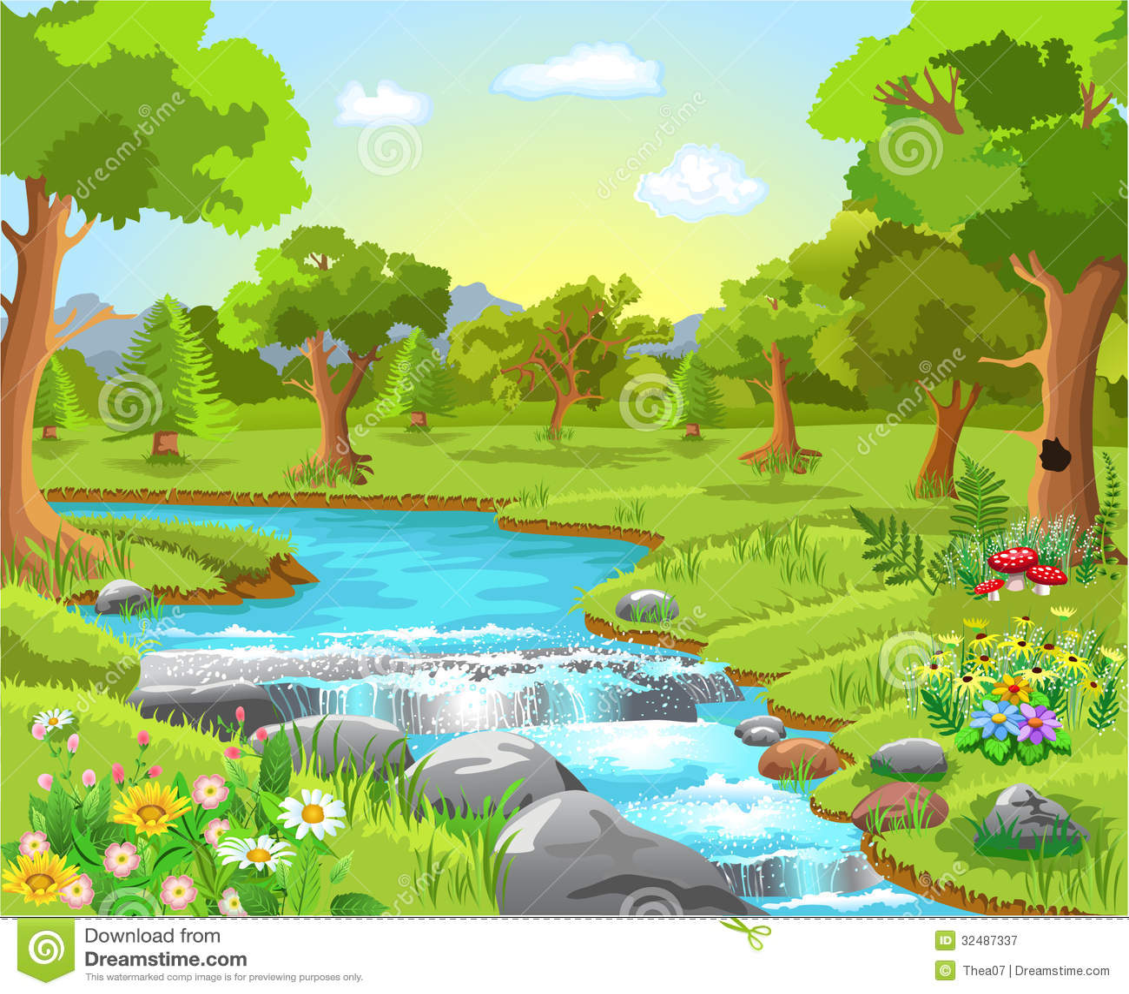 Wodna wiosna w lesie