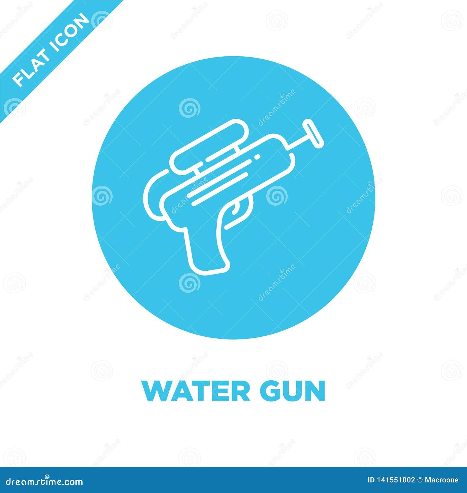 Wodnego pistoletu ikony wektor Cienka kreskowa wodnego pistoletu konturu ikony wektoru ilustracja wodnego pistoletu symbol dla uż