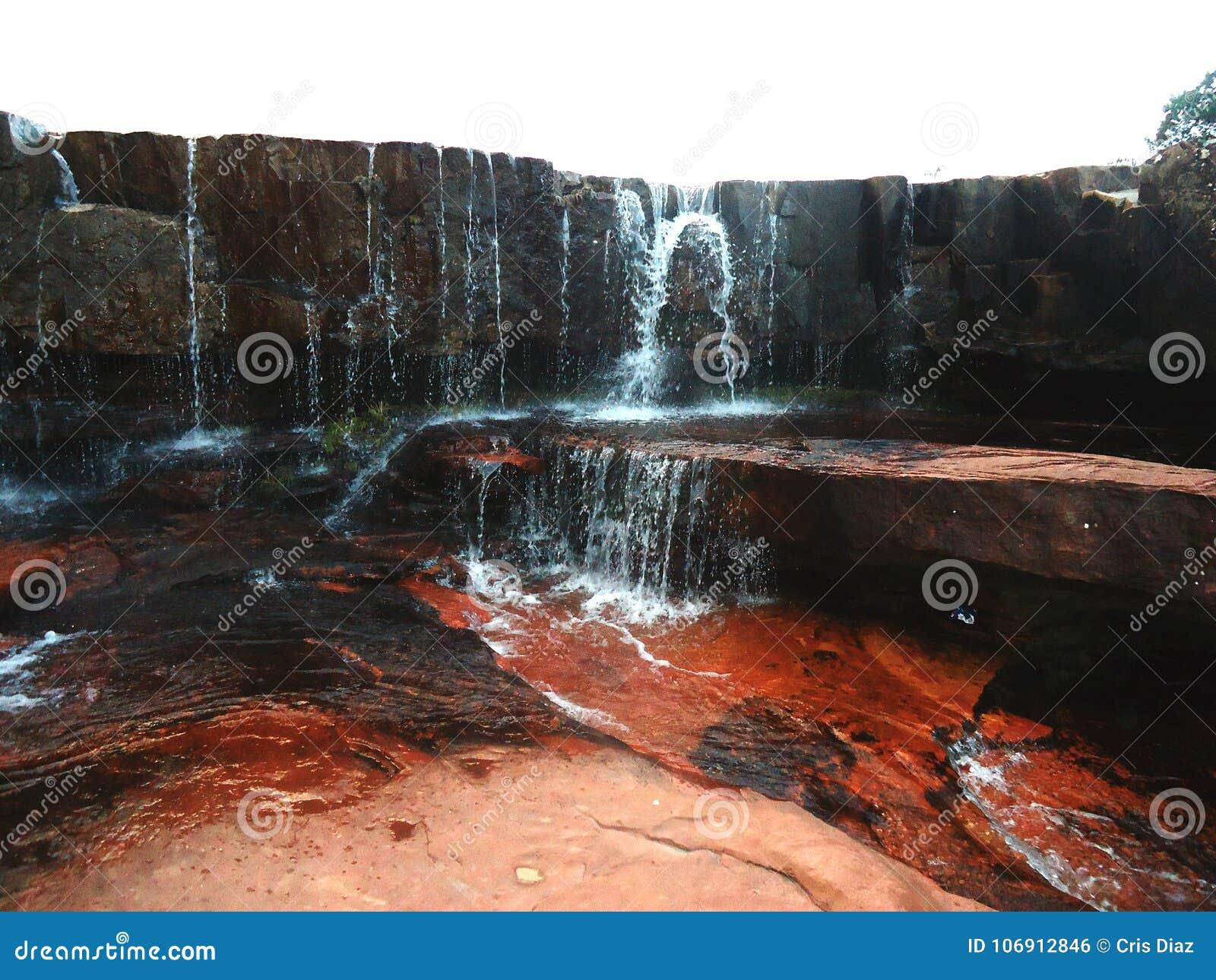 Wodnej siklawy wielka sawanna Amazon Wenezuela