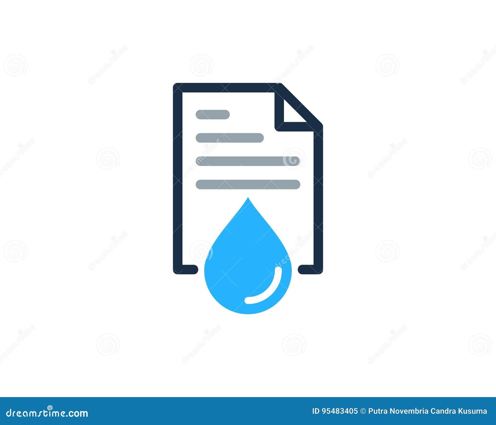 Wodny dokument ikony loga projekta element