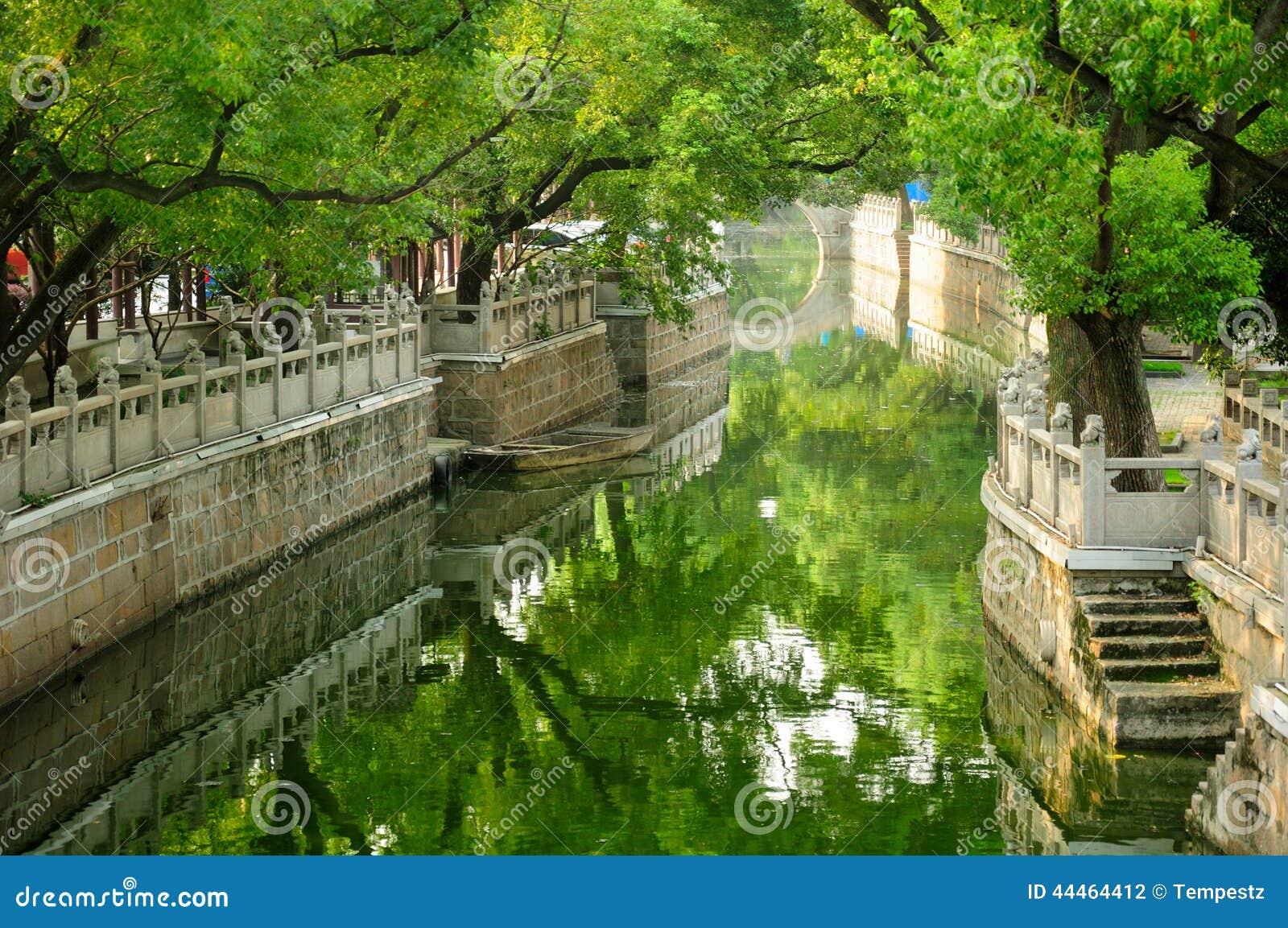 Wodny kanał w Szanghaj