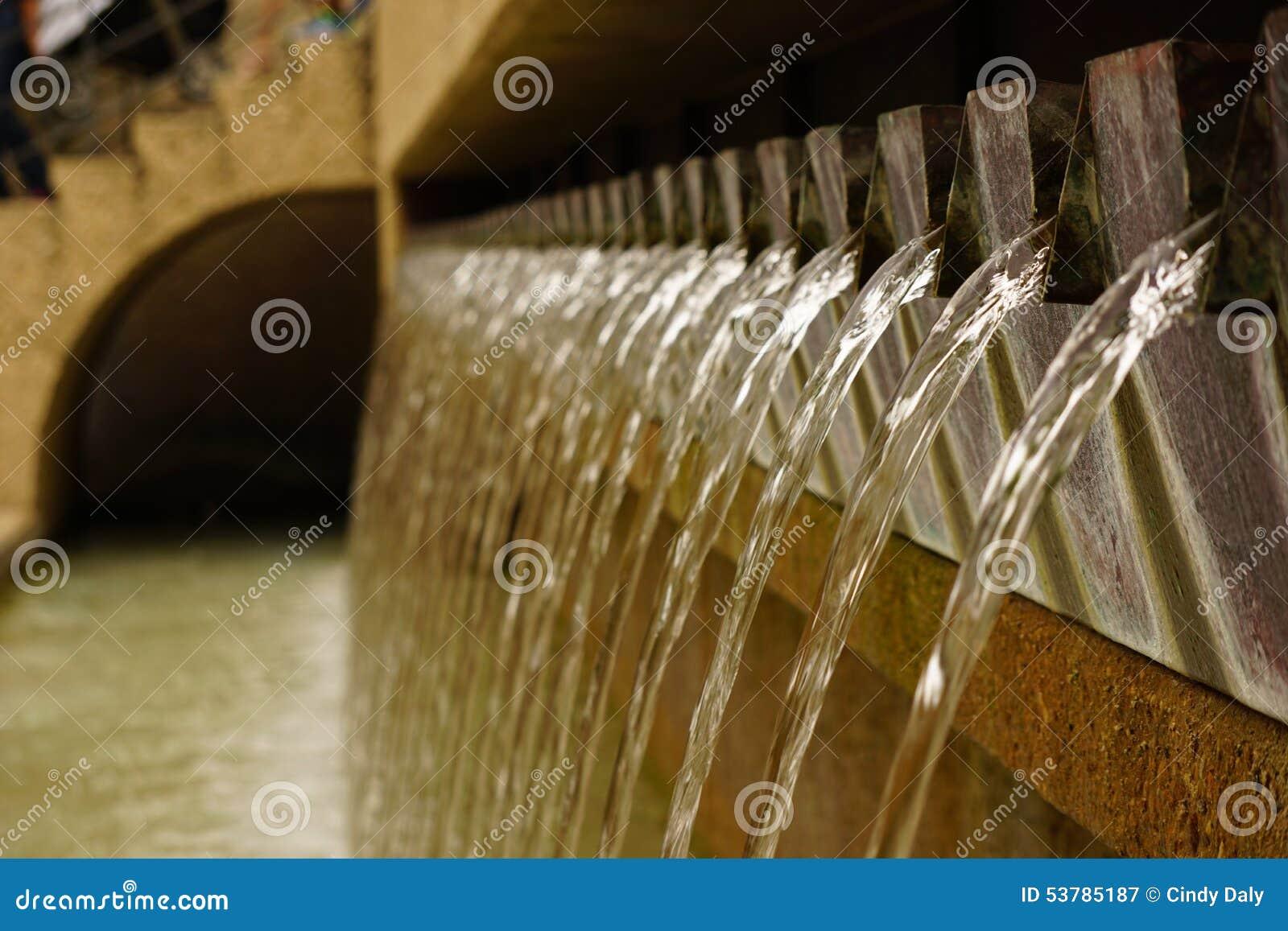 Wodny spadek rozmyty