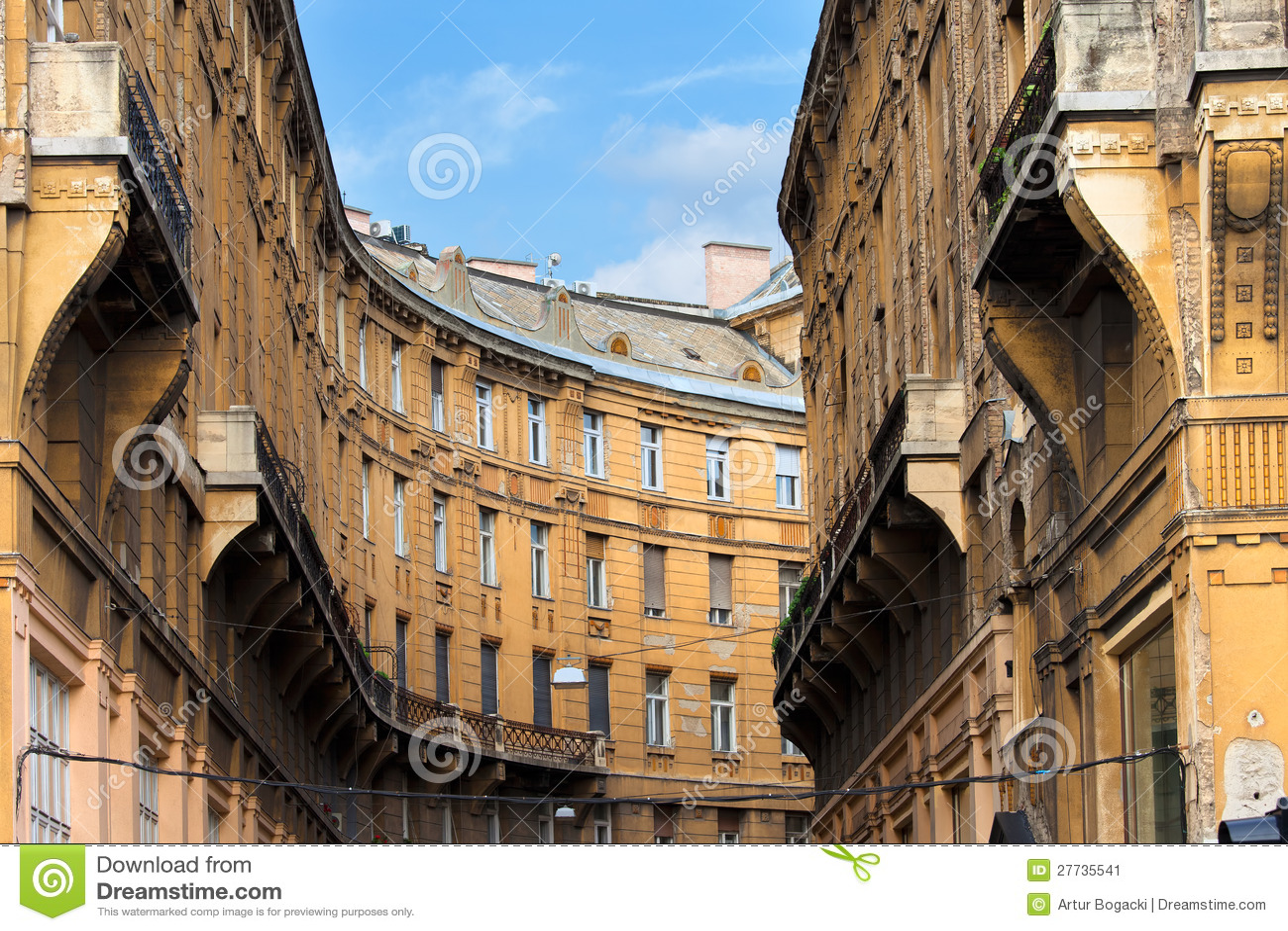 Wohnblock in Budapest