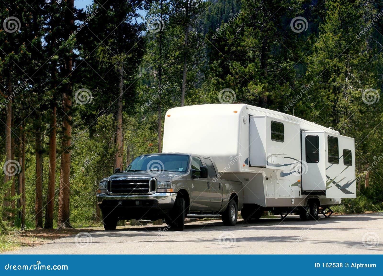 Wohnmobilschlußteil in Yellowstone