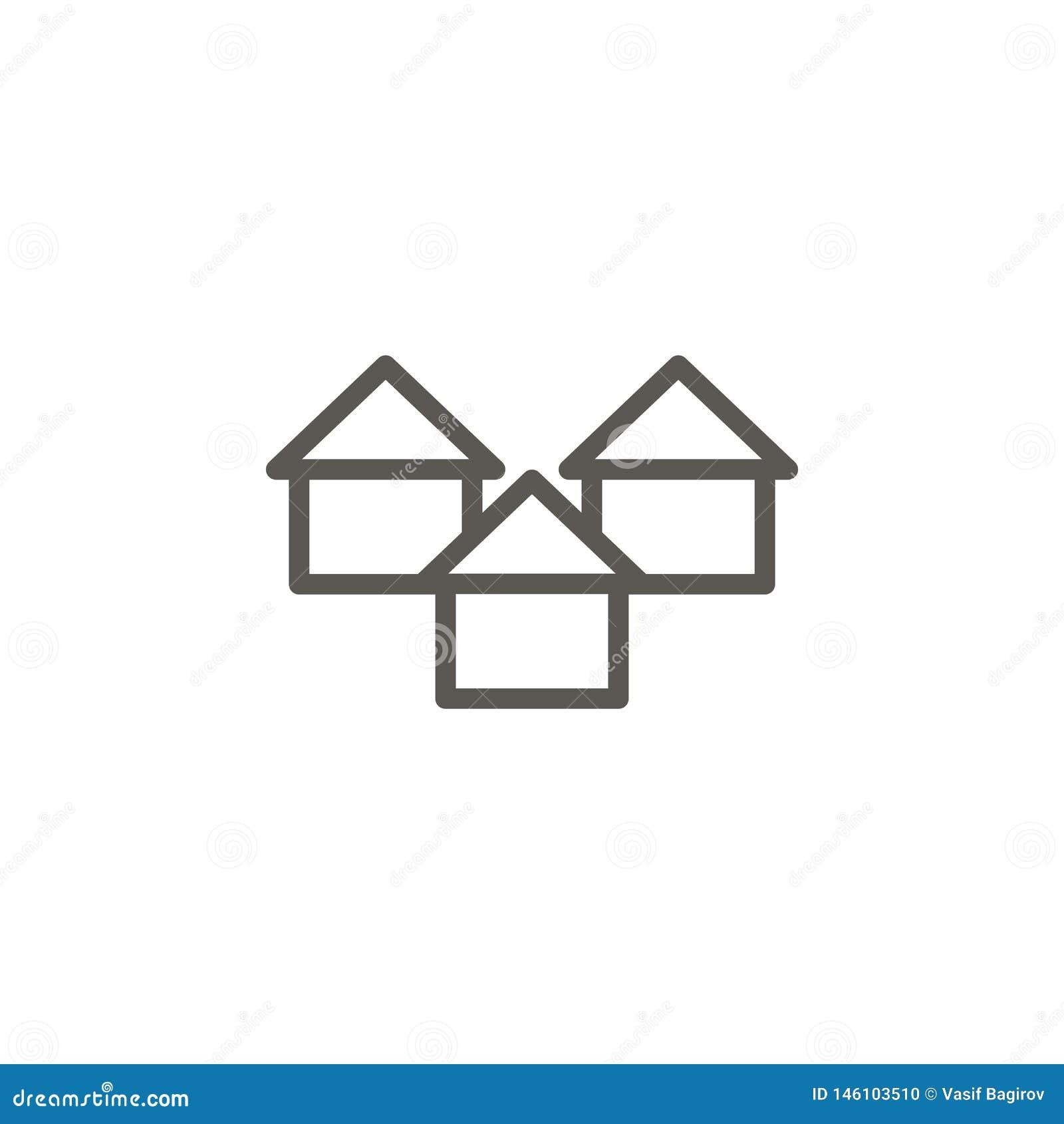 Wohnung, Gebäudevektorikone Einfache Elementillustration von UI-Konzept Wohnung, Gebäudevektorikone Grundbesitz? H?user, Ebenen f