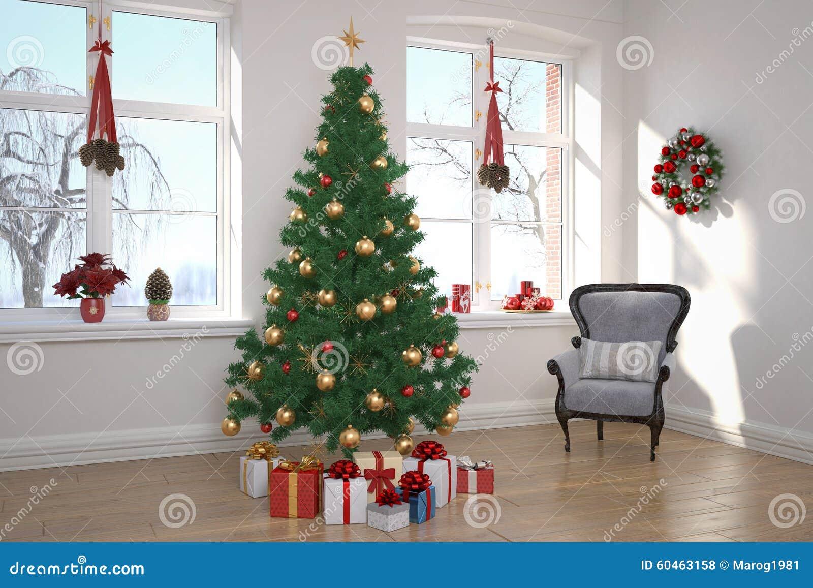 Wohnung wohnzimmer weihnachten stockfoto bild von - Weihnachten wohnzimmer ...