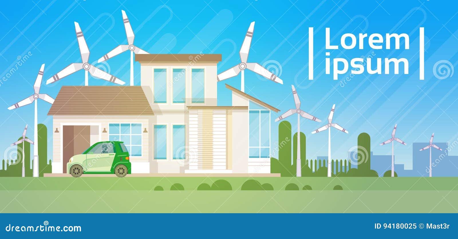 Wohnungsbau mit Windkraftanlage Eco Real Estate Energiesparend