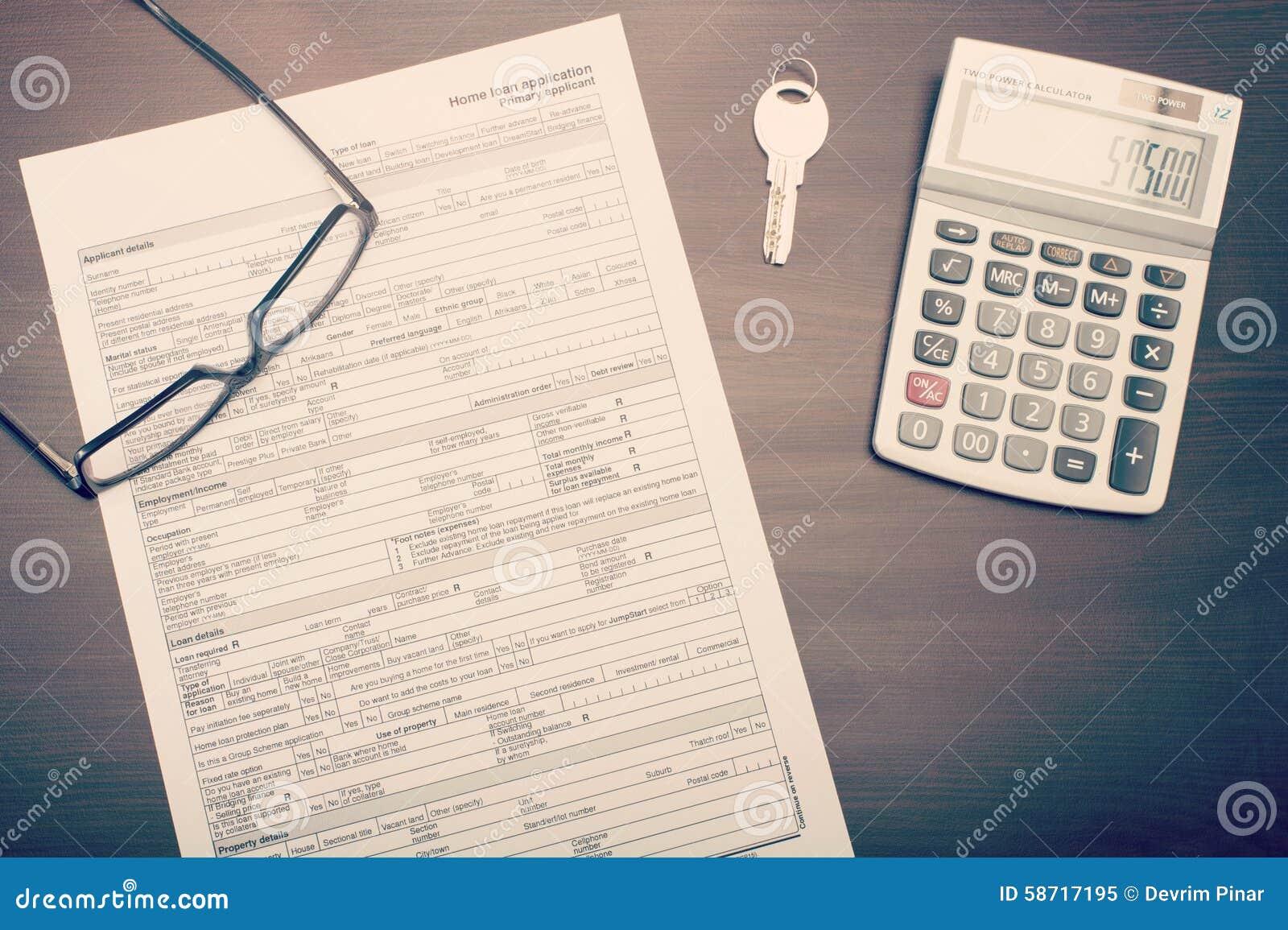 Wohnungsbaudarlehenanmeldeformular