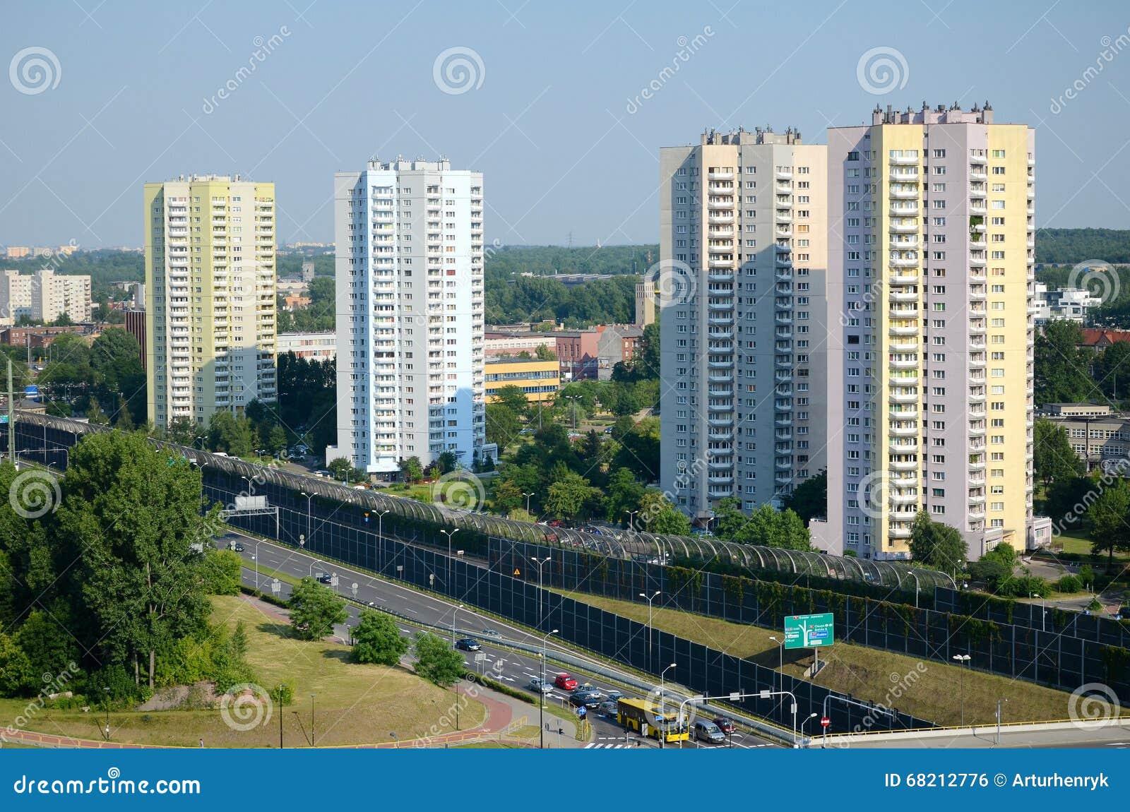 Wohnwolkenkratzer in Katowice, Polen