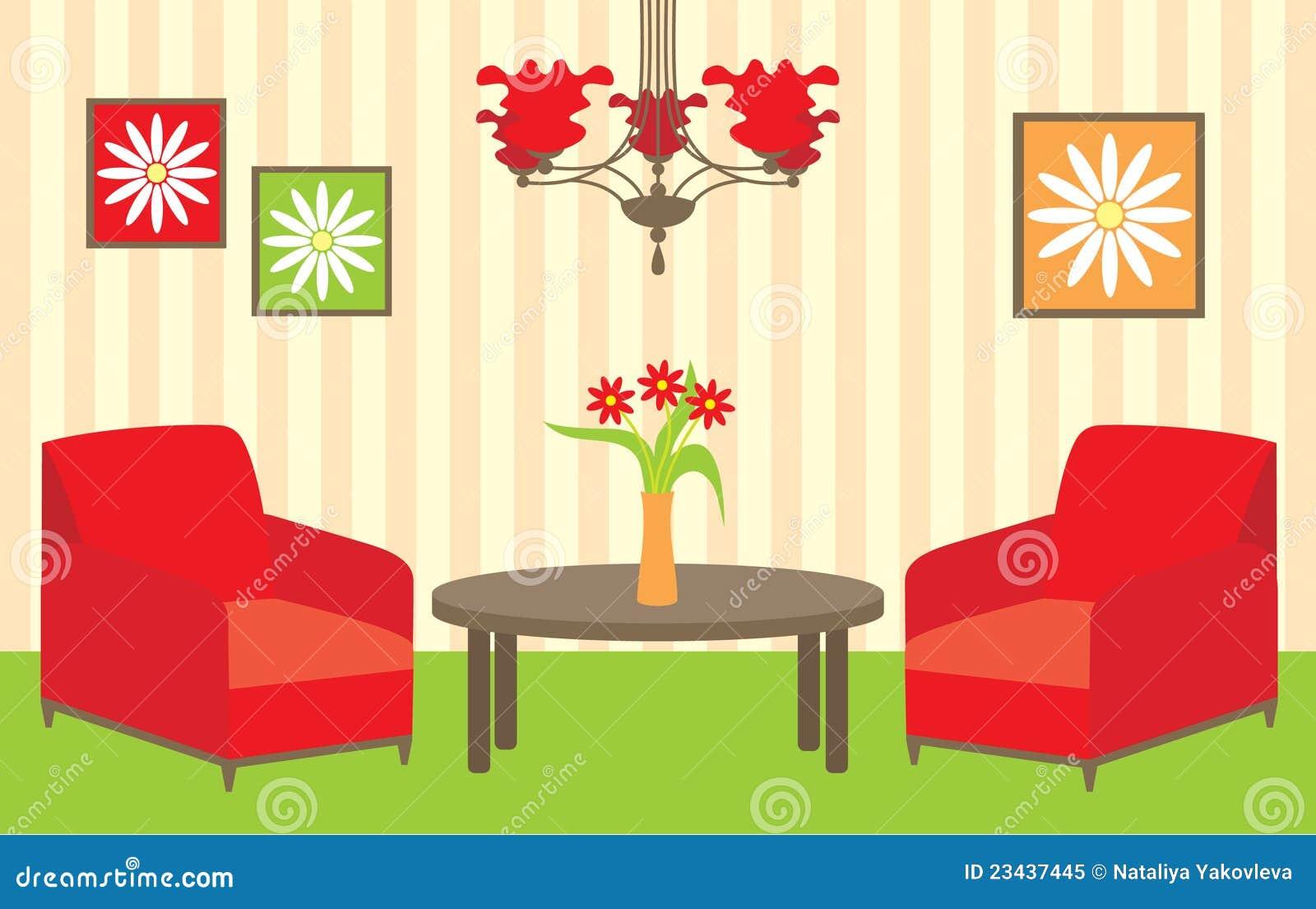 Wohnzimmer Vektor Abbildung. Illustration Von Zuhause