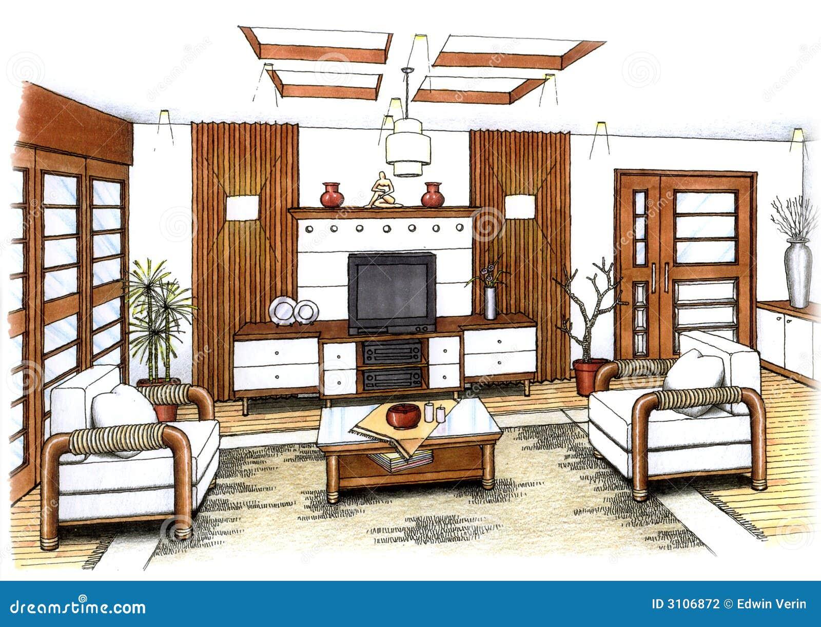 Wohnzimmer stockfotografie bild 3106872 for Interior design wohnzimmer