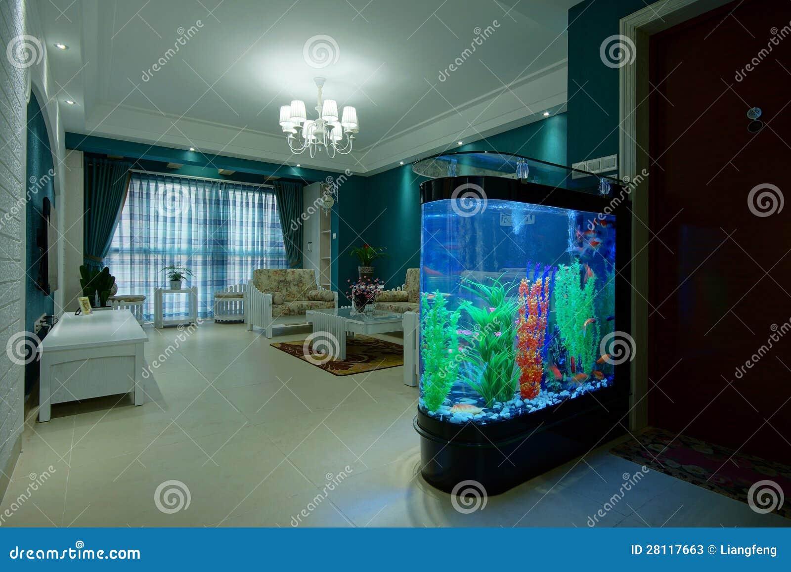 Wohnzimmer aquarium stockbild bild von freizeit beleuchtung 28117663 - Aquarium wohnzimmer ...