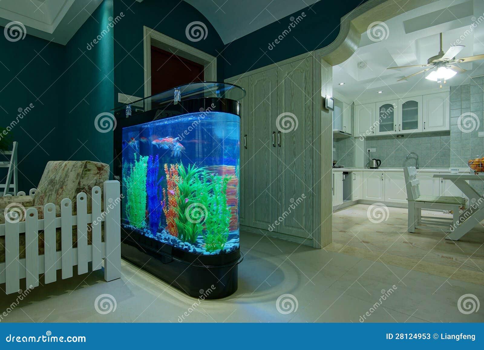 Wohnzimmer Aquarium Stockbild. Bild Von Hallway, Halle   28124953