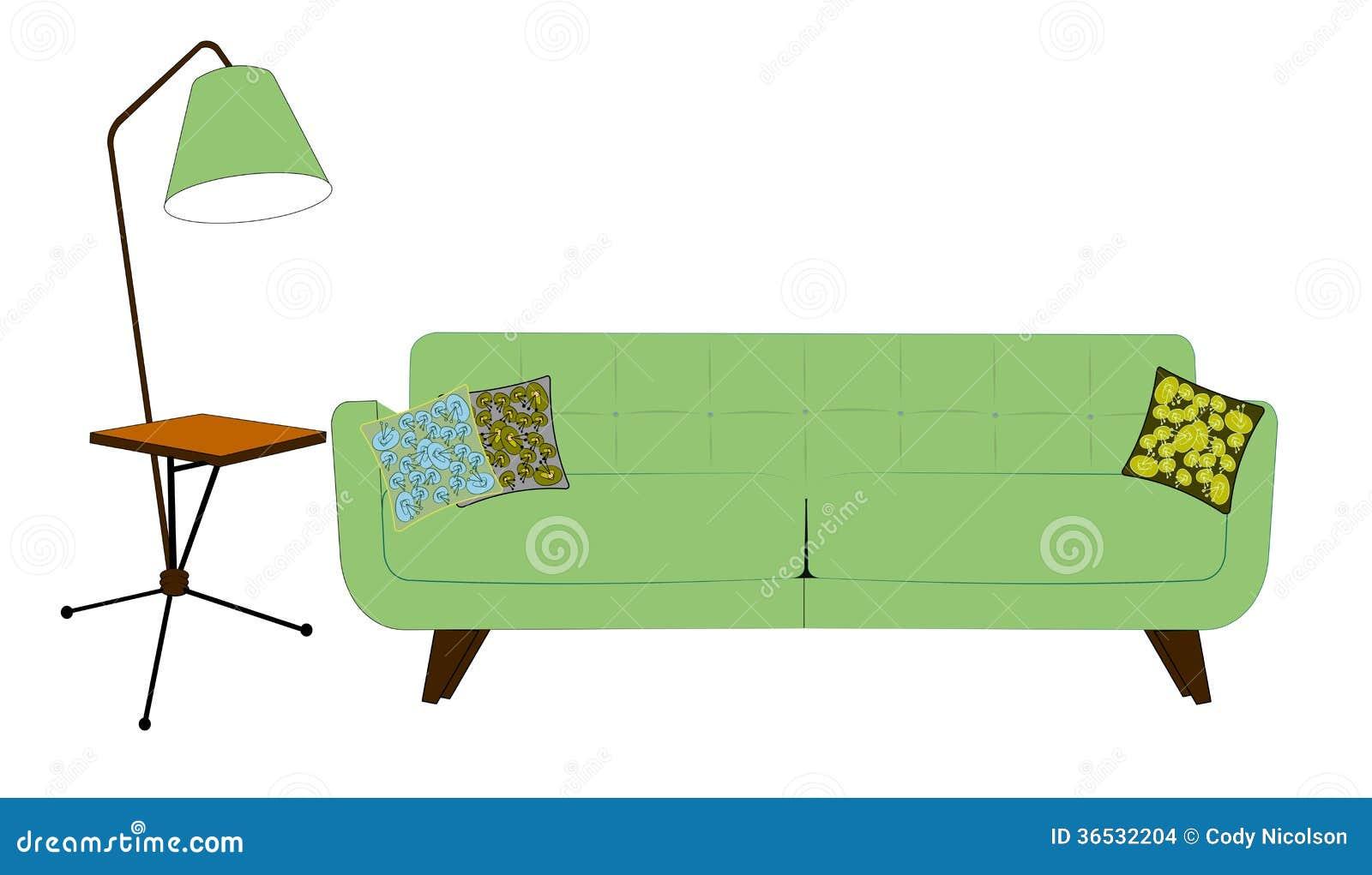 Wohnzimmer der f nfziger jahre in den pistazienfarben for Wohnzimmer 60 er jahre