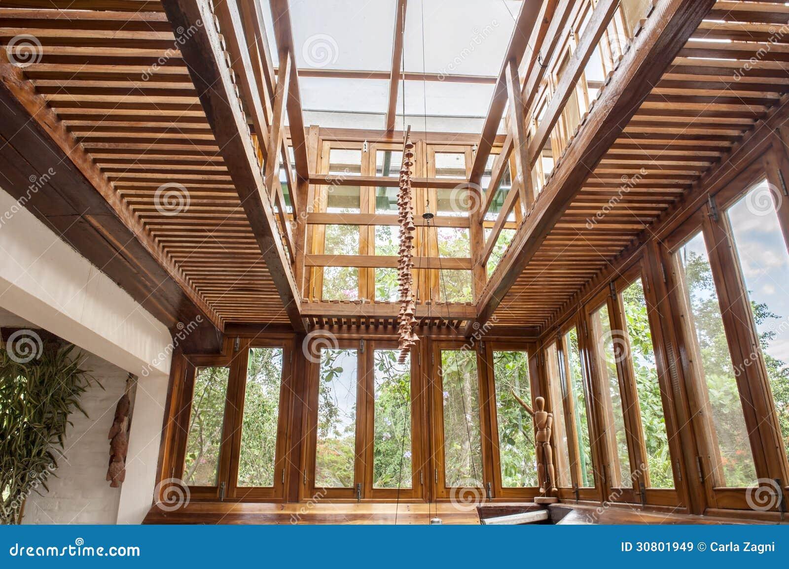 Wohnzimmer im Bambus stockbild. Bild von zustand, hölzern - 30801949