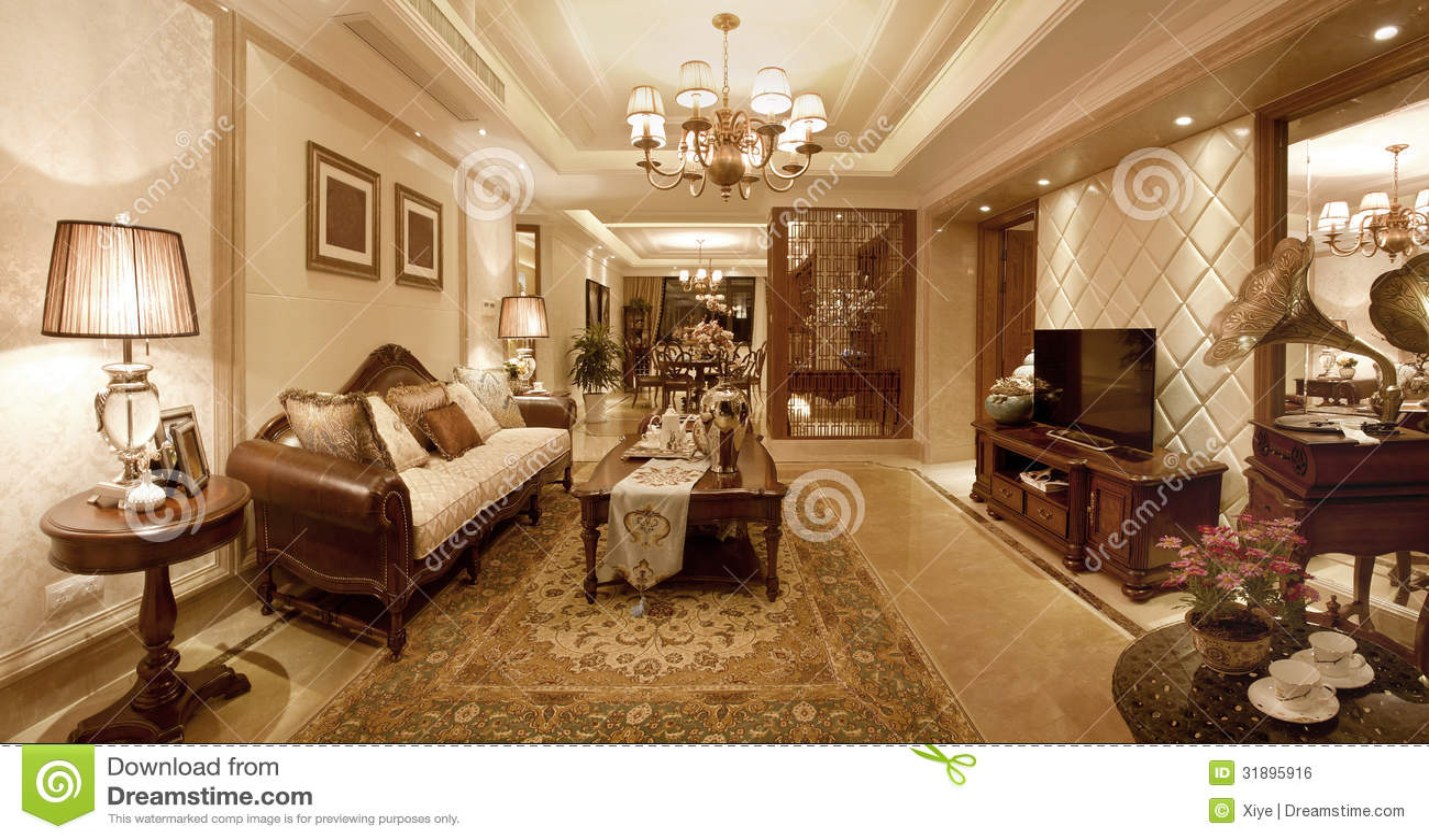 wohnzimmer klassisch lizenzfreies stockbild - bild: 31895916, Wohnzimmer