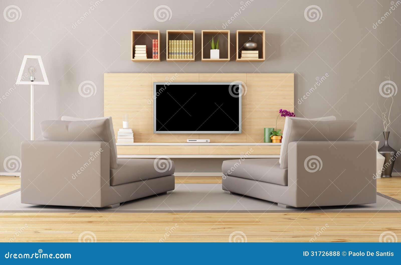 Wohnzimmer mit fernsehen stock abbildung illustration von for 7 1 wohnzimmer